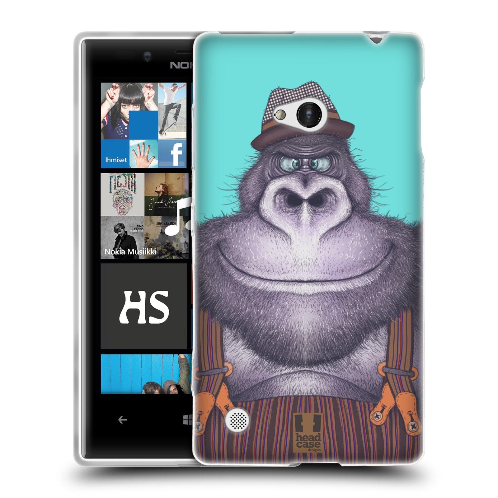 HEAD CASE silikonový obal na mobil NOKIA Lumia 720 vzor Kreslená zvířátka gorila