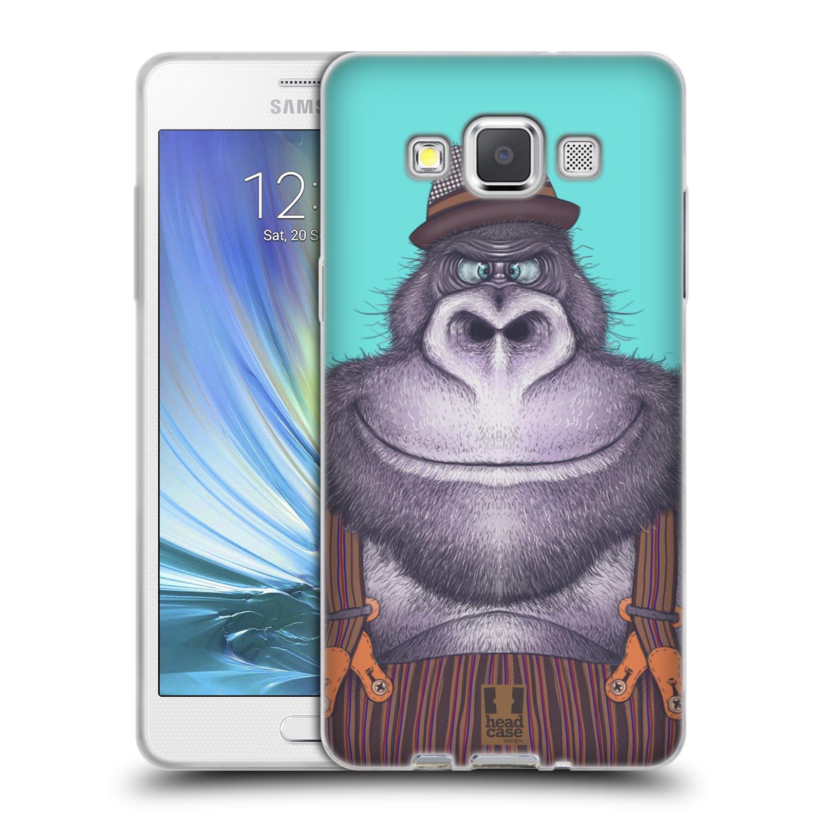 HEAD CASE silikonový obal na mobil Samsung Galaxy A5 vzor Kreslená zvířátka gorila