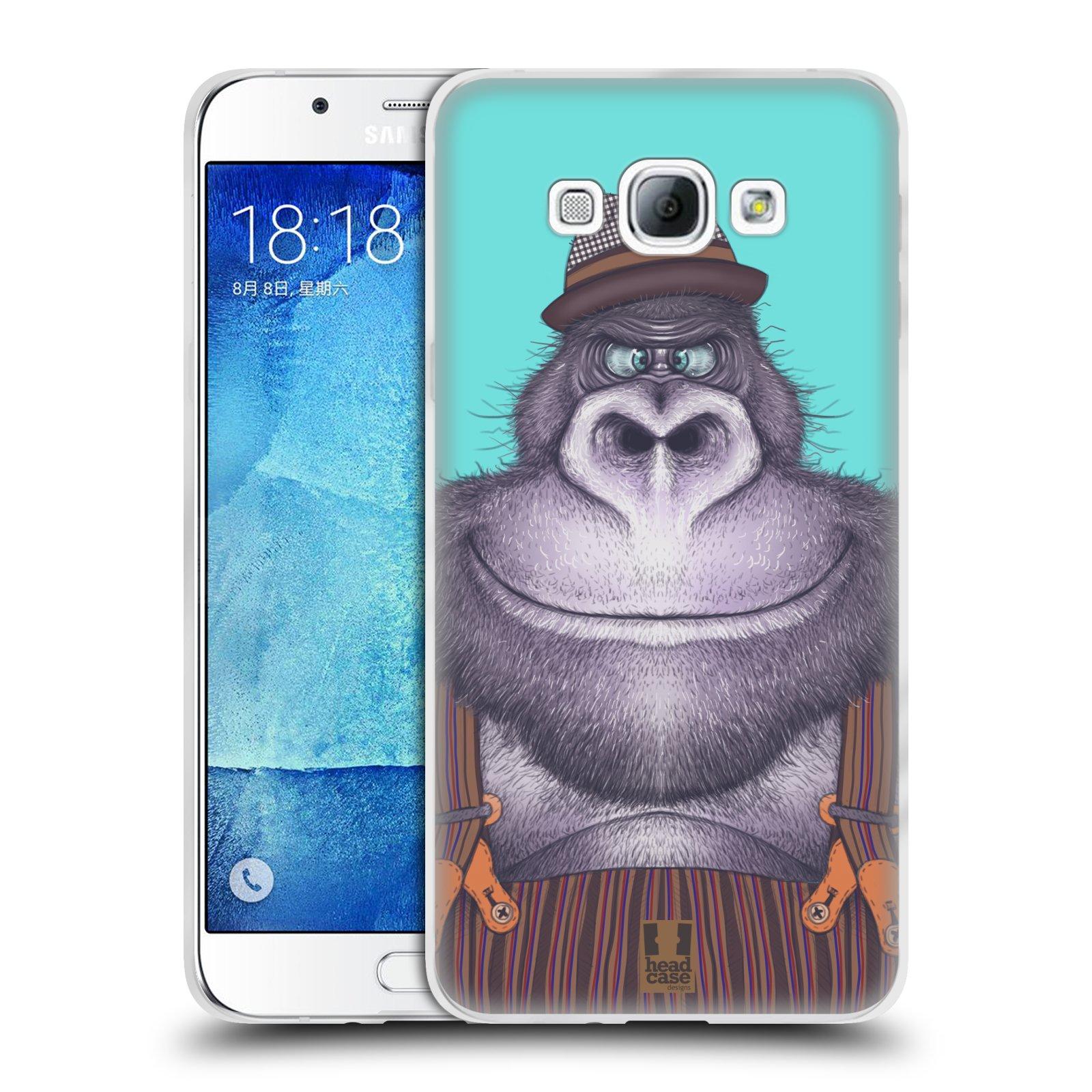 HEAD CASE silikonový obal na mobil Samsung Galaxy A8 vzor Kreslená zvířátka gorila