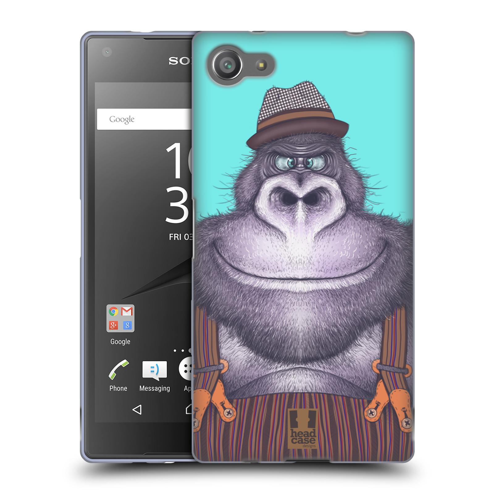 HEAD CASE silikonový obal na mobil Sony Xperia Z5 COMPACT vzor Kreslená zvířátka gorila