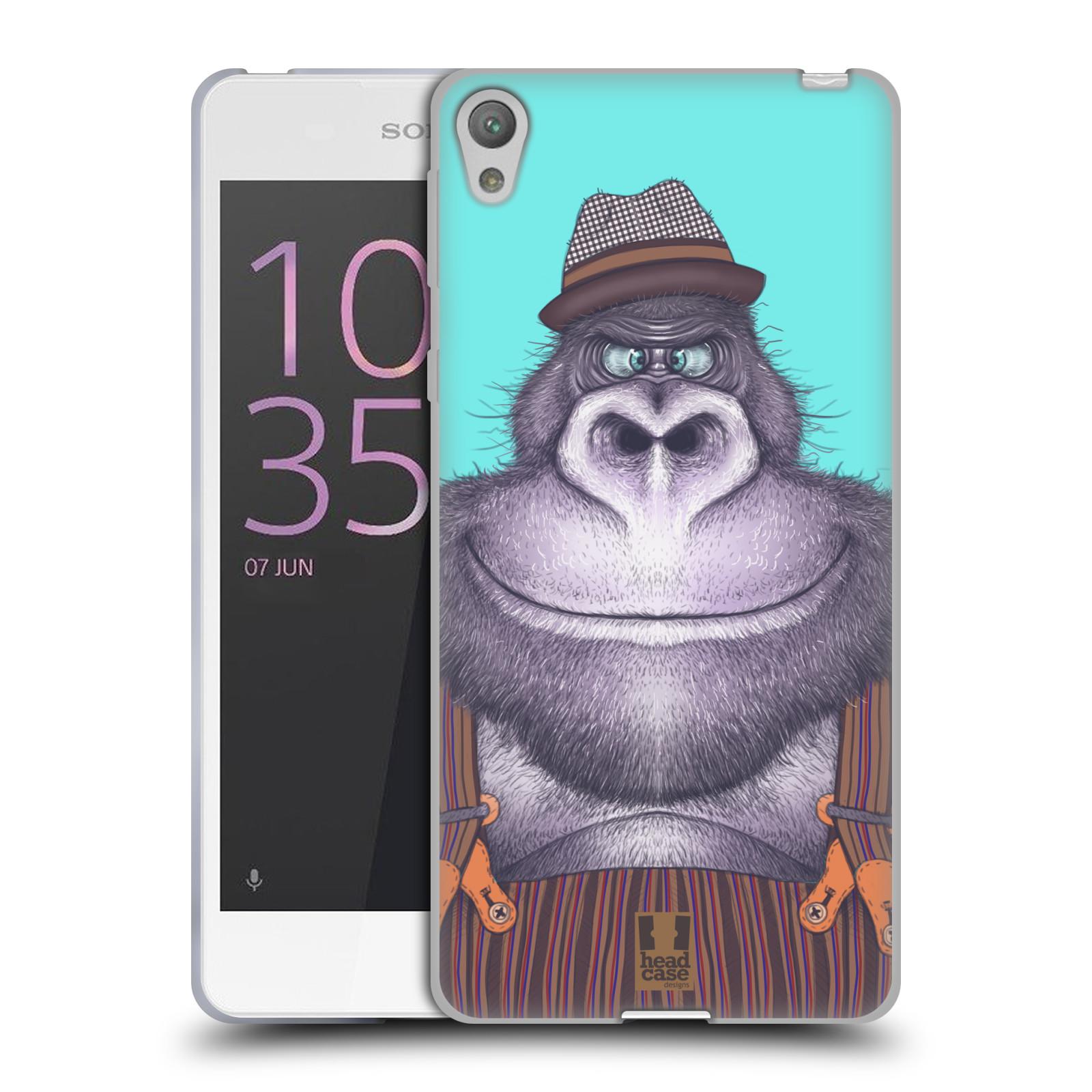 HEAD CASE silikonový obal na mobil SONY XPERIA E5 vzor Kreslená zvířátka gorila