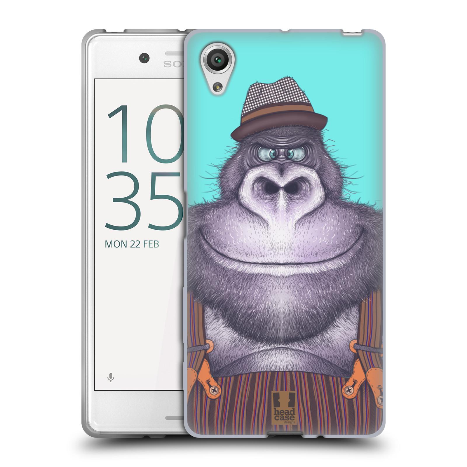HEAD CASE silikonový obal na mobil Sony Xperia X / X DUAL vzor Kreslená zvířátka gorila