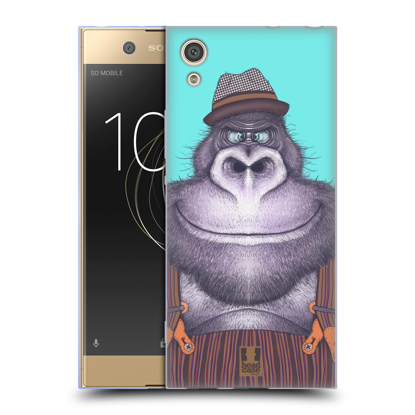 HEAD CASE silikonový obal na mobil Sony Xperia XA1 / XA1 DUAL SIM vzor Kreslená zvířátka gorila