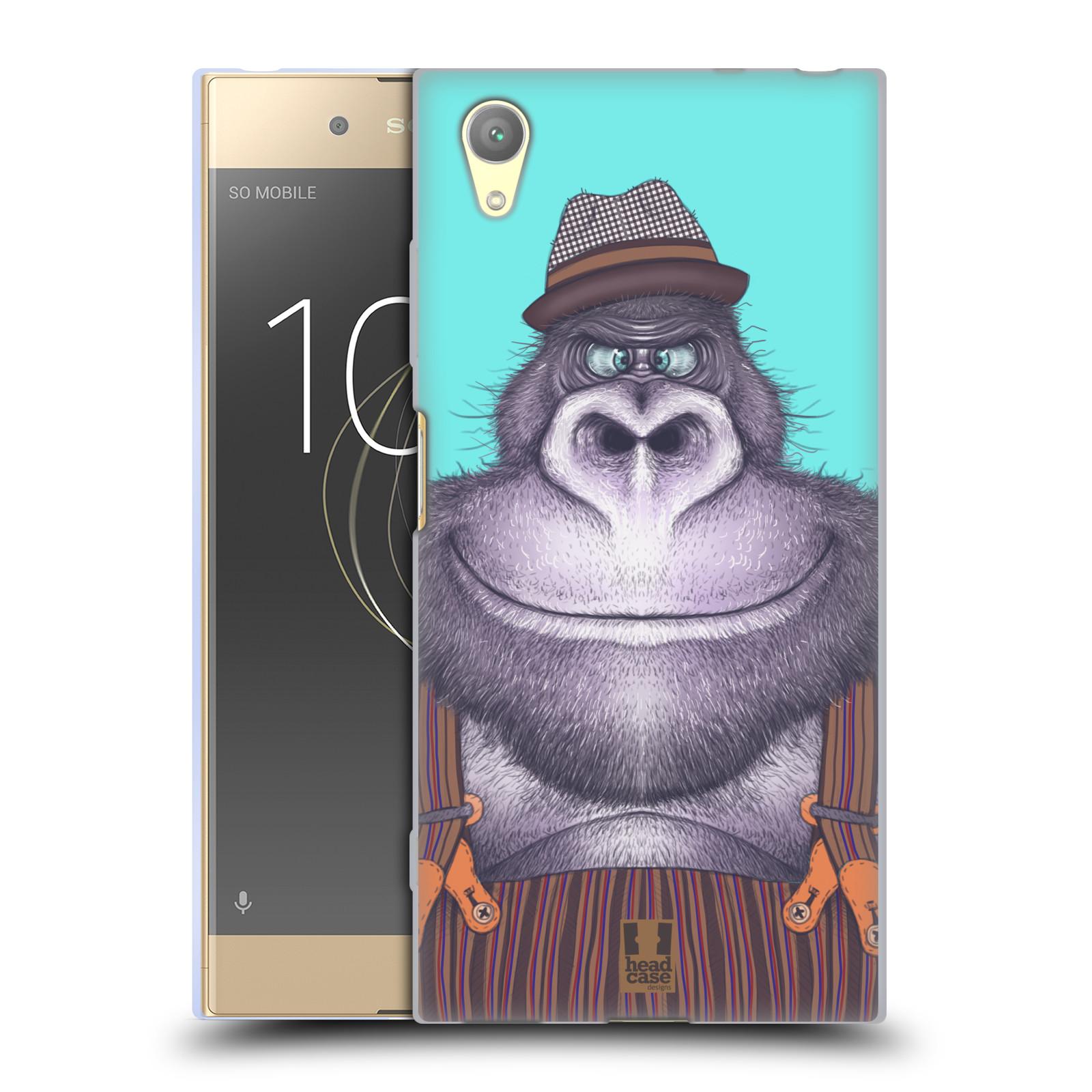 HEAD CASE silikonový obal na mobil Sony Xperia XA1 PLUS vzor Kreslená zvířátka gorila