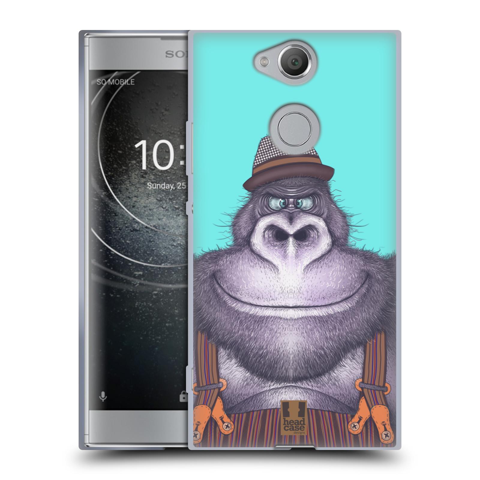 Pouzdro na mobil Sony Xperia XA2 (DUAL SIM, SINGLE SIM) vzor Kreslená zvířátka gorila