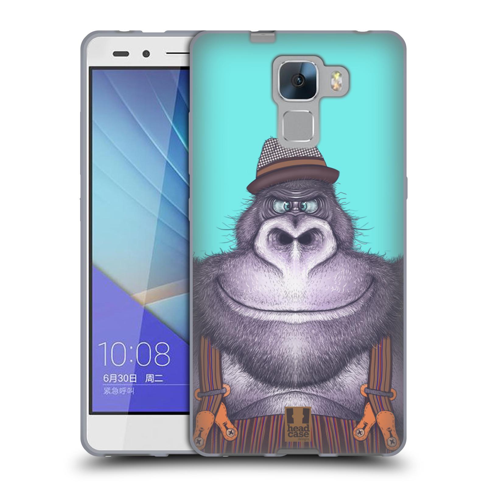 HEAD CASE silikonový obal na mobil HUAWEI HONOR 7 vzor Kreslená zvířátka gorila