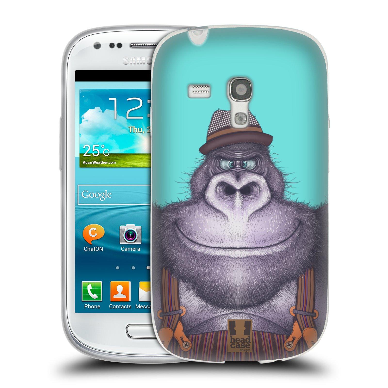 HEAD CASE silikonový obal na mobil Samsung Galaxy S3 MINI i8190 vzor Kreslená zvířátka gorila