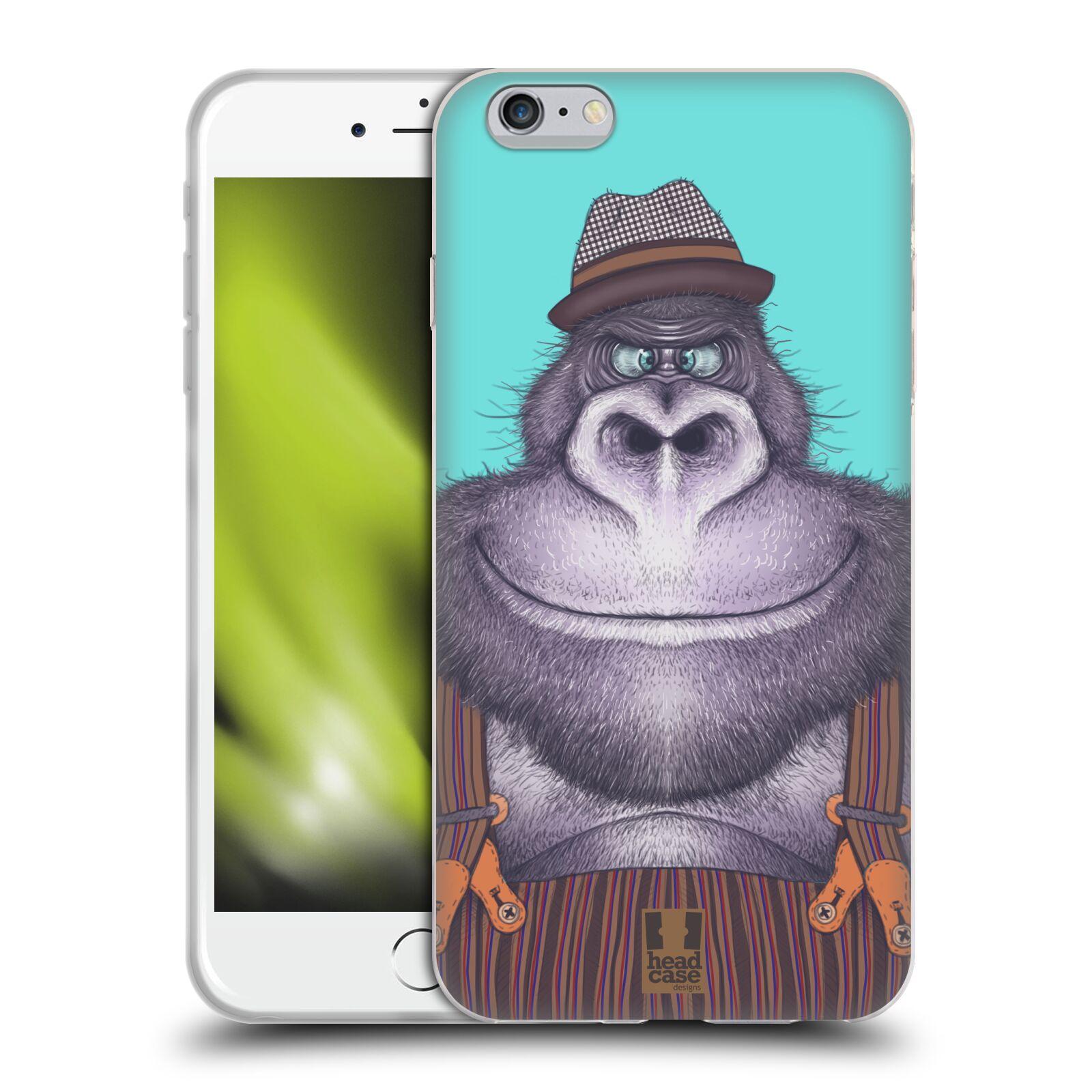 HEAD CASE silikonový obal na mobil Apple Iphone 6 PLUS/ 6S PLUS vzor Kreslená zvířátka gorila