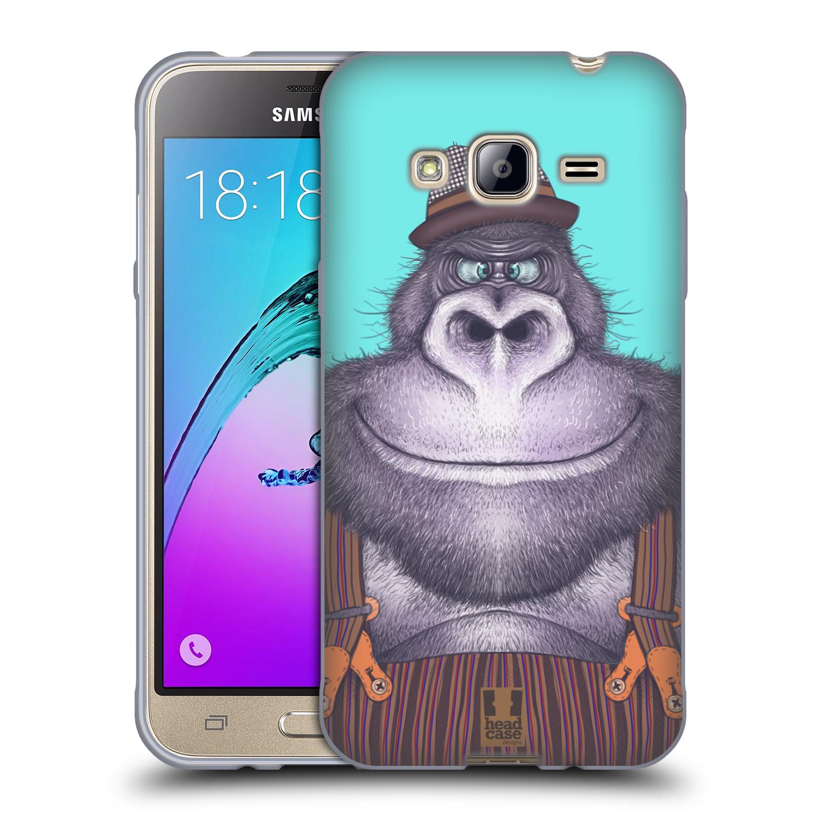 HEAD CASE silikonový obal na mobil Samsung Galaxy J3, J3 2016 vzor Kreslená zvířátka gorila