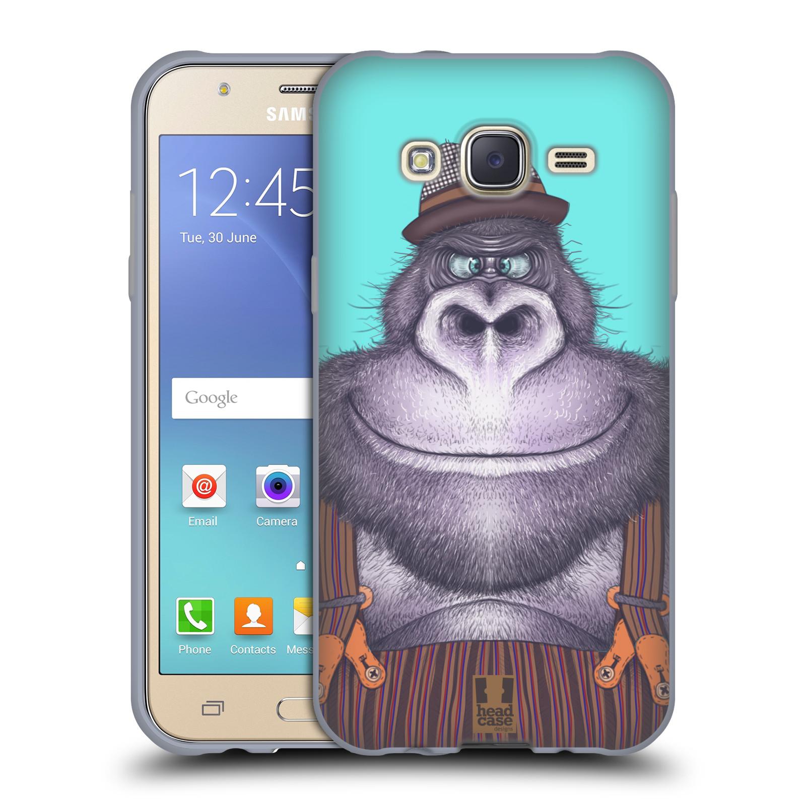 HEAD CASE silikonový obal na mobil Samsung Galaxy J5, J500, (J5 DUOS) vzor Kreslená zvířátka gorila