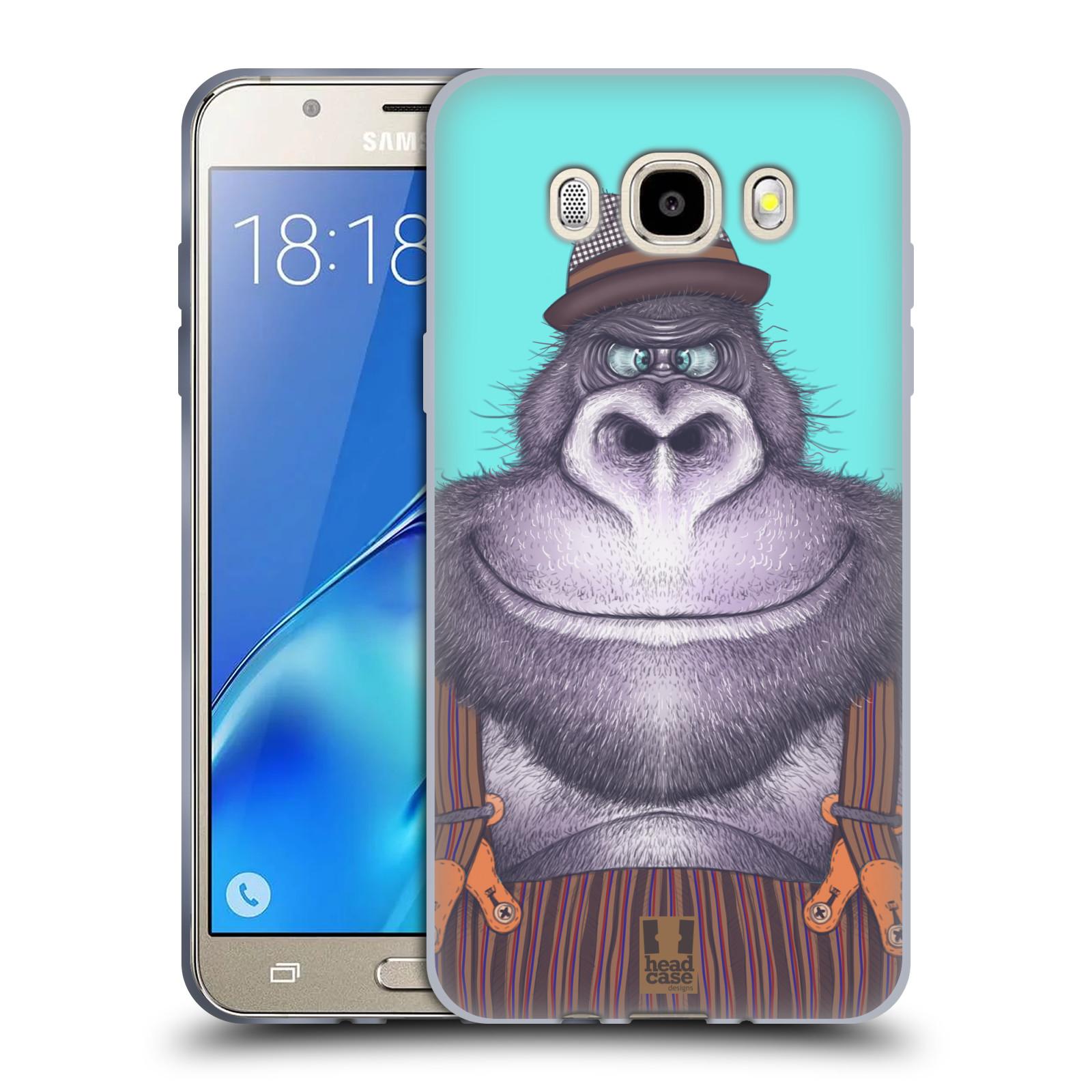 HEAD CASE silikonový obal, kryt na mobil Samsung Galaxy J5 2016, J510, J510F, (J510F DUAL SIM) vzor Kreslená zvířátka gorila