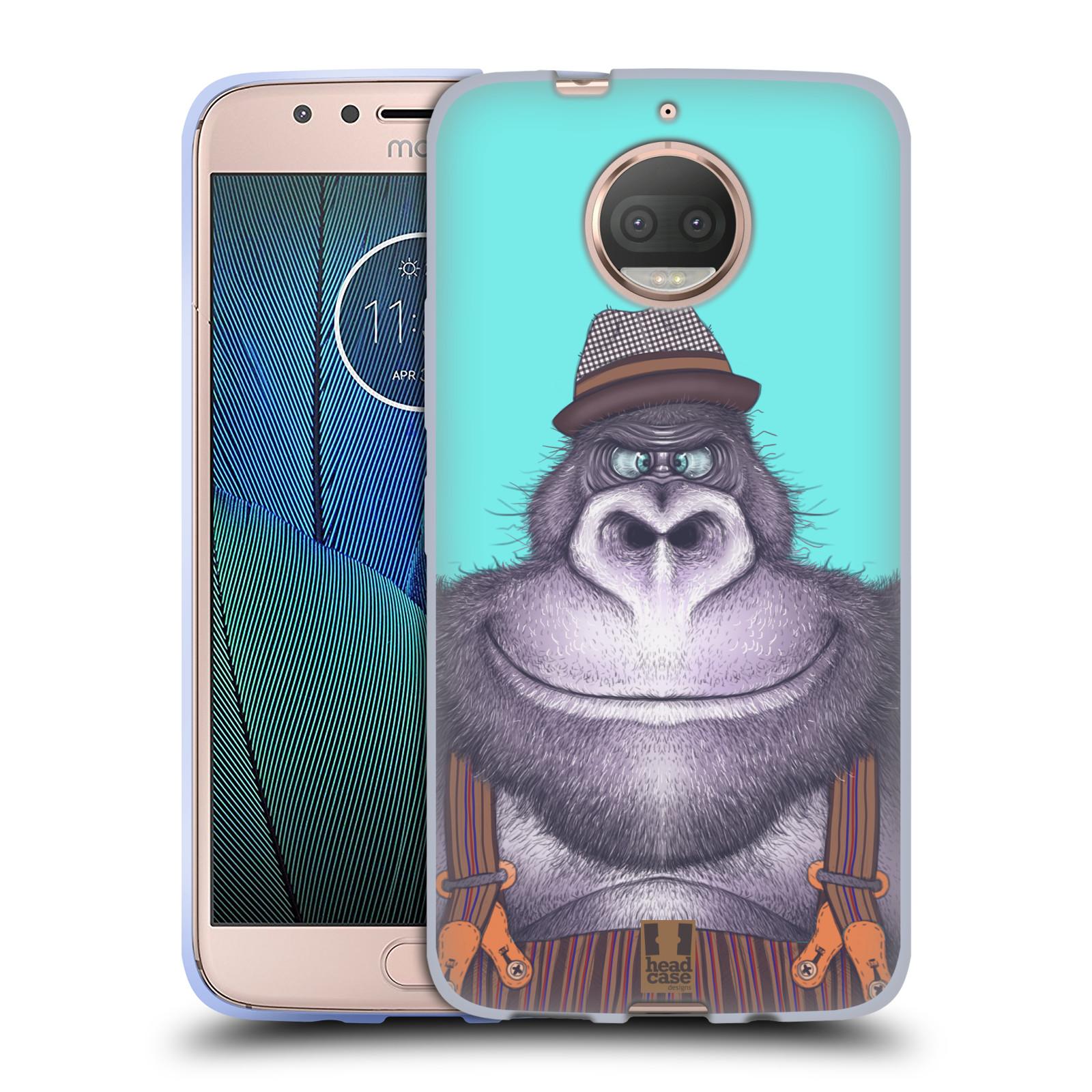 HEAD CASE silikonový obal na mobil Lenovo Moto G5s PLUS vzor Kreslená zvířátka gorila