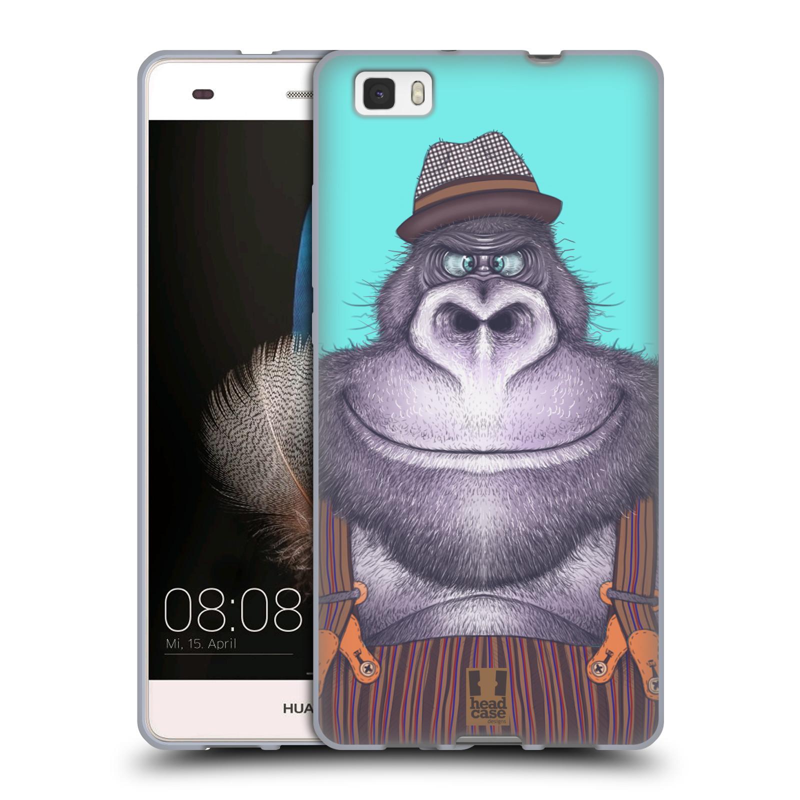 HEAD CASE silikonový obal na mobil HUAWEI P8 LITE vzor Kreslená zvířátka gorila