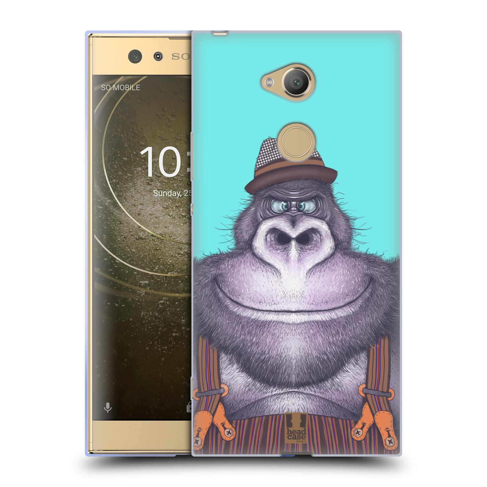 Pouzdro na mobil Sony Xperia XA2 Ultra vzor Kreslená zvířátka gorila