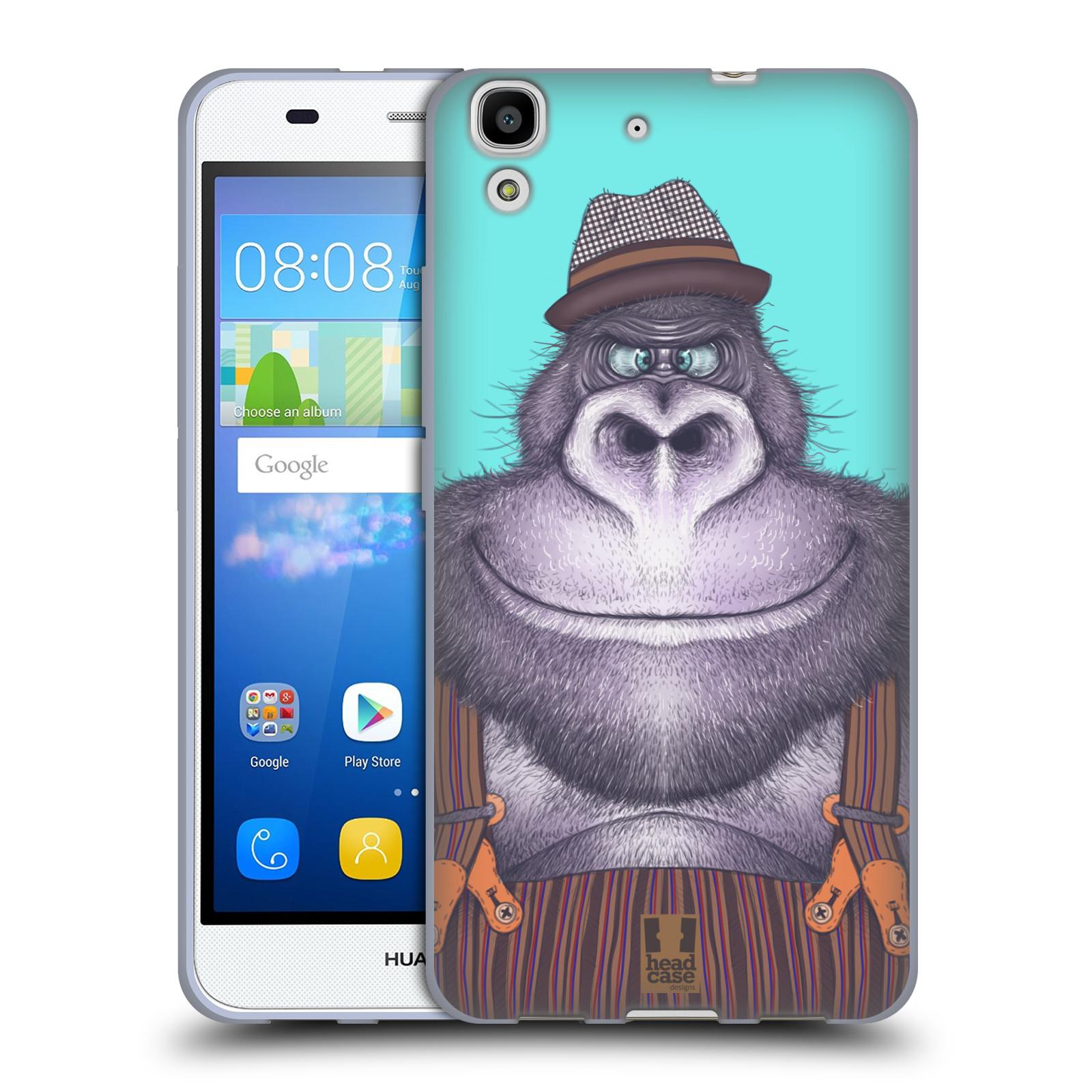 HEAD CASE silikonový obal na mobil HUAWEI Y6 vzor Kreslená zvířátka gorila