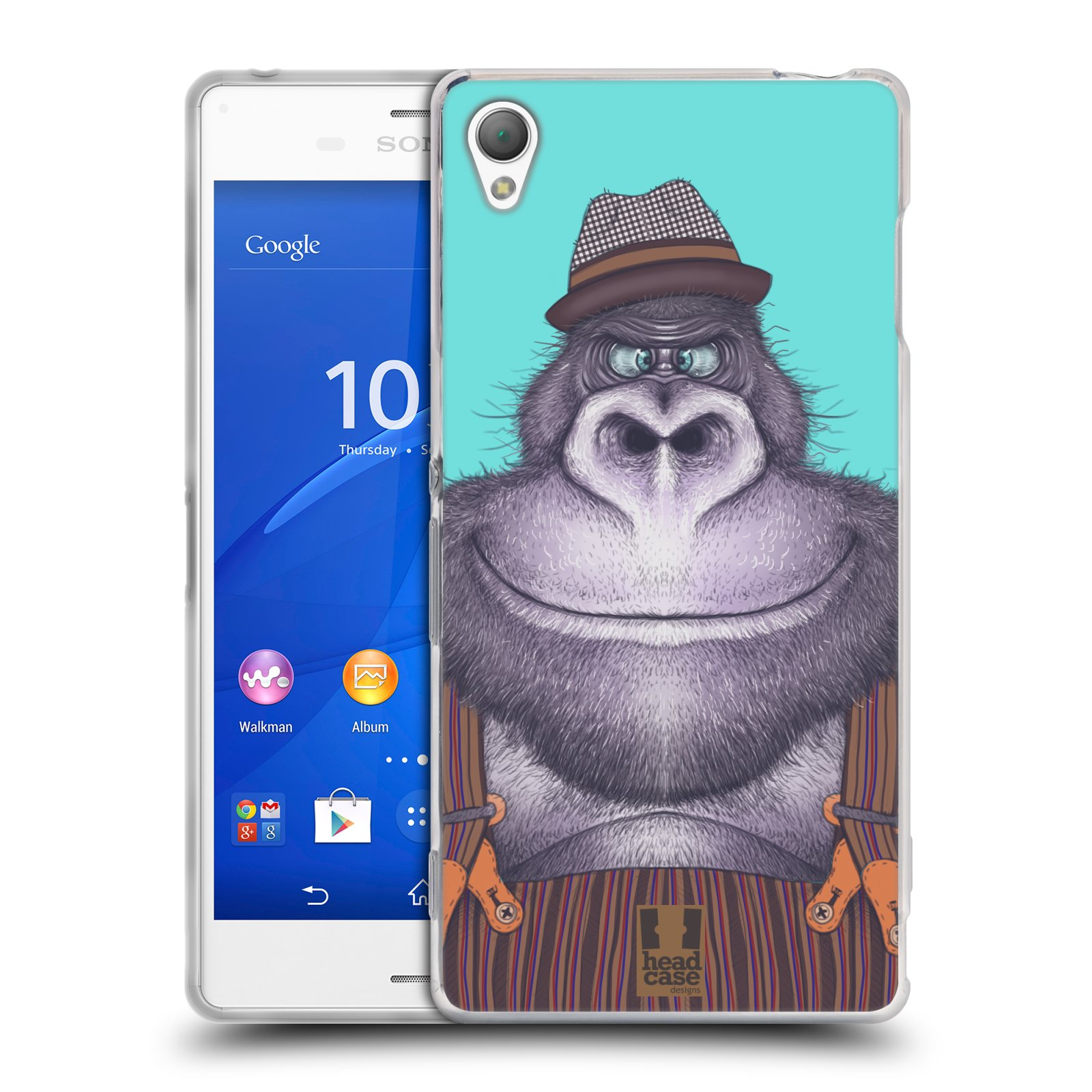 HEAD CASE silikonový obal na mobil Sony Xperia Z3 vzor Kreslená zvířátka gorila