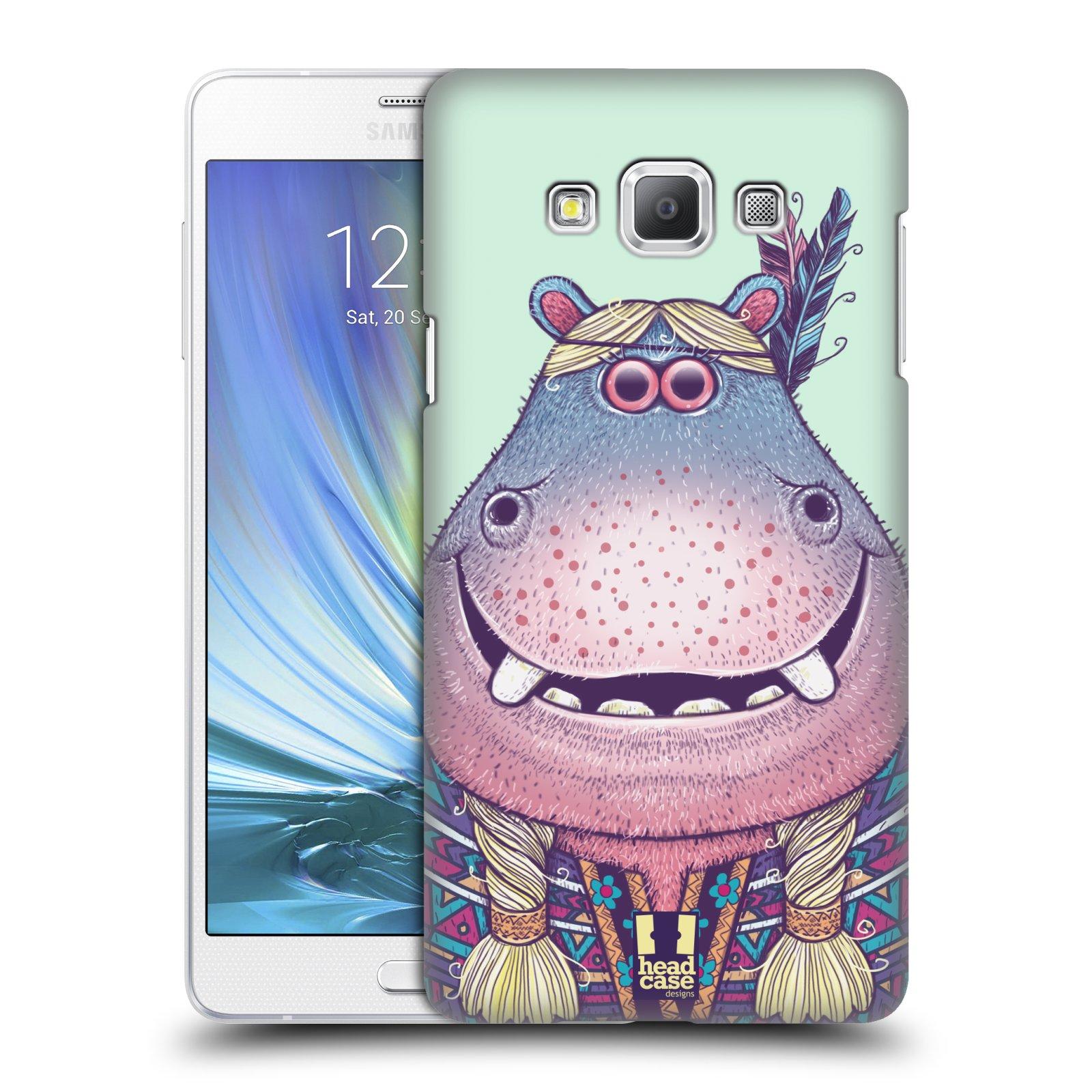 HEAD CASE plastový obal na mobil SAMSUNG GALAXY A7 vzor Kreslená zvířátka hroch