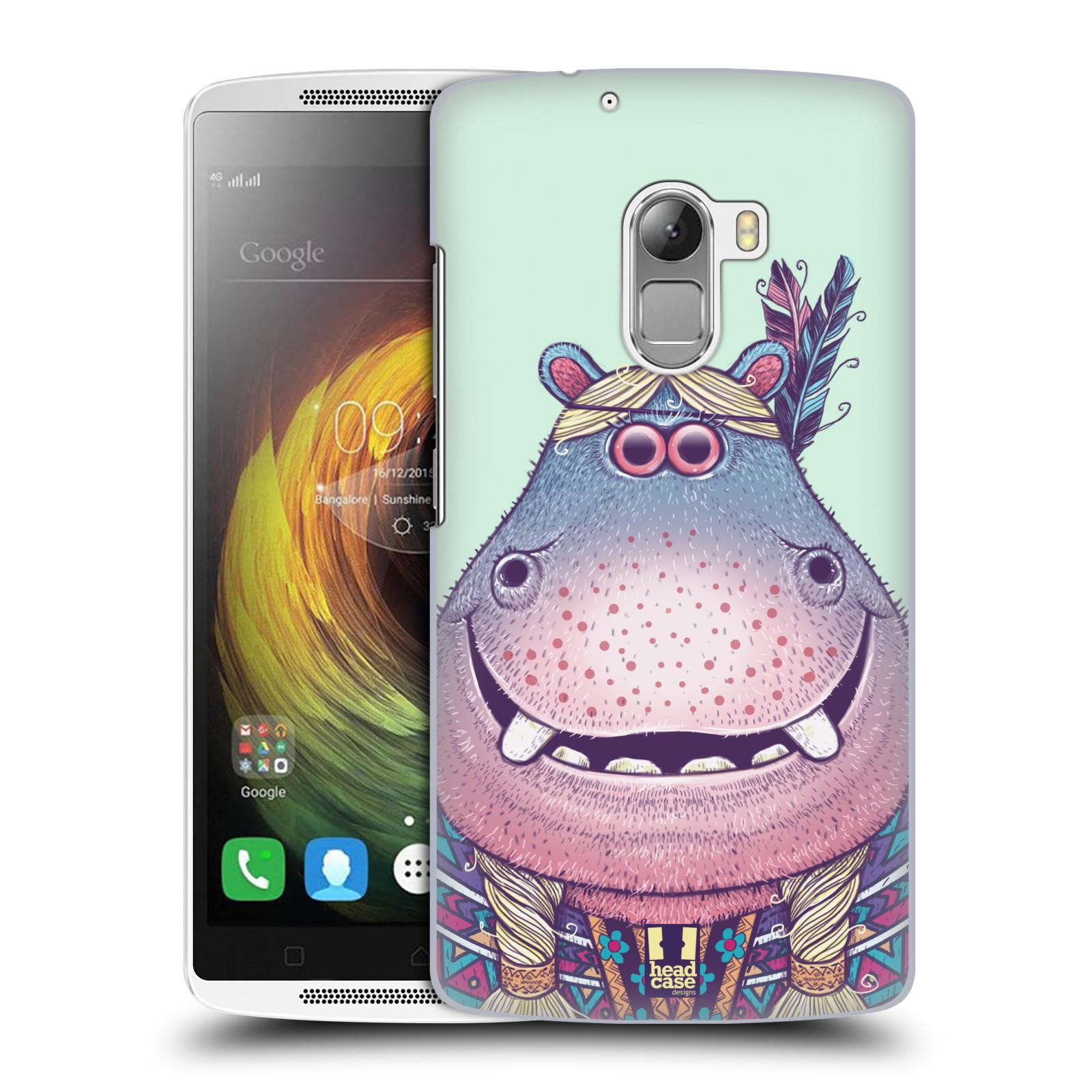 HEAD CASE pevný plastový obal na mobil LENOVO A7010 / A7010 DUAL / K4 Note / Vibe X3 lite vzor Kreslená zvířátka hroch