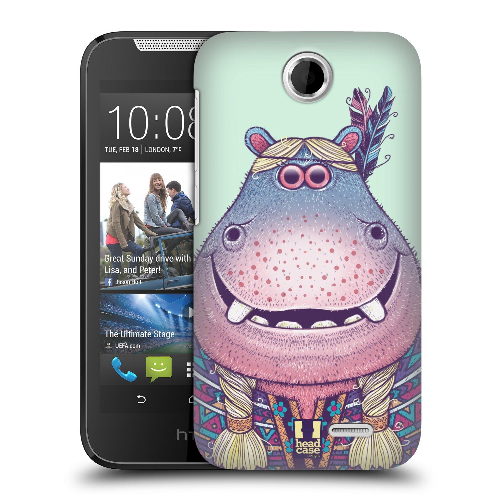 HEAD CASE plastový obal na mobil HTC Desire 310 vzor Kreslená zvířátka hroch