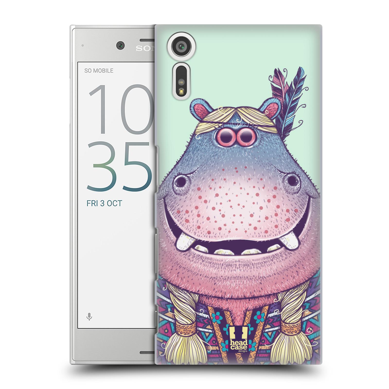HEAD CASE plastový obal na mobil Sony Xperia XZ vzor Kreslená zvířátka hroch