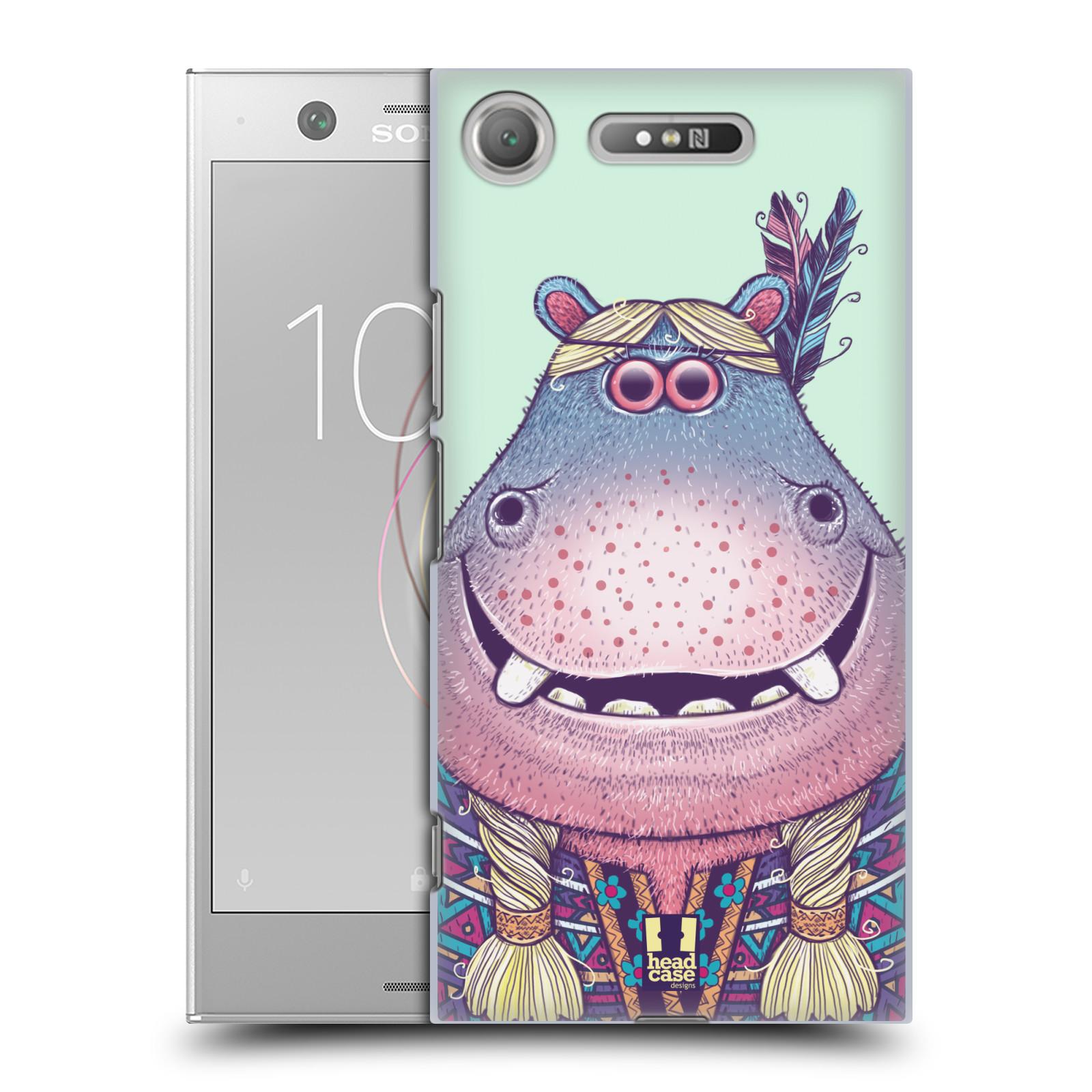 HEAD CASE plastový obal na mobil Sony Xperia XZ1 vzor Kreslená zvířátka hroch