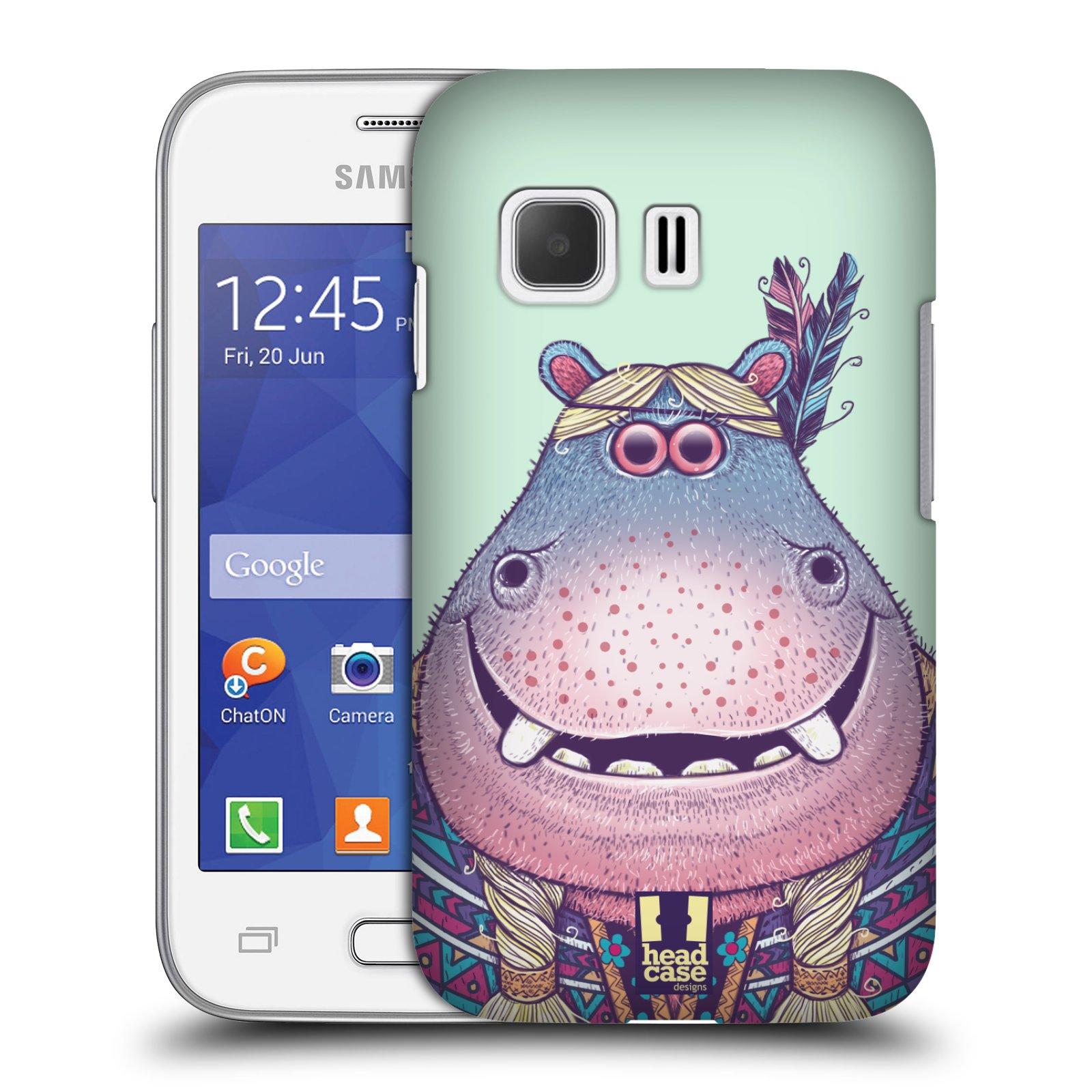 HEAD CASE plastový obal na mobil SAMSUNG Galaxy Young 2 (G130) vzor Kreslená zvířátka hroch
