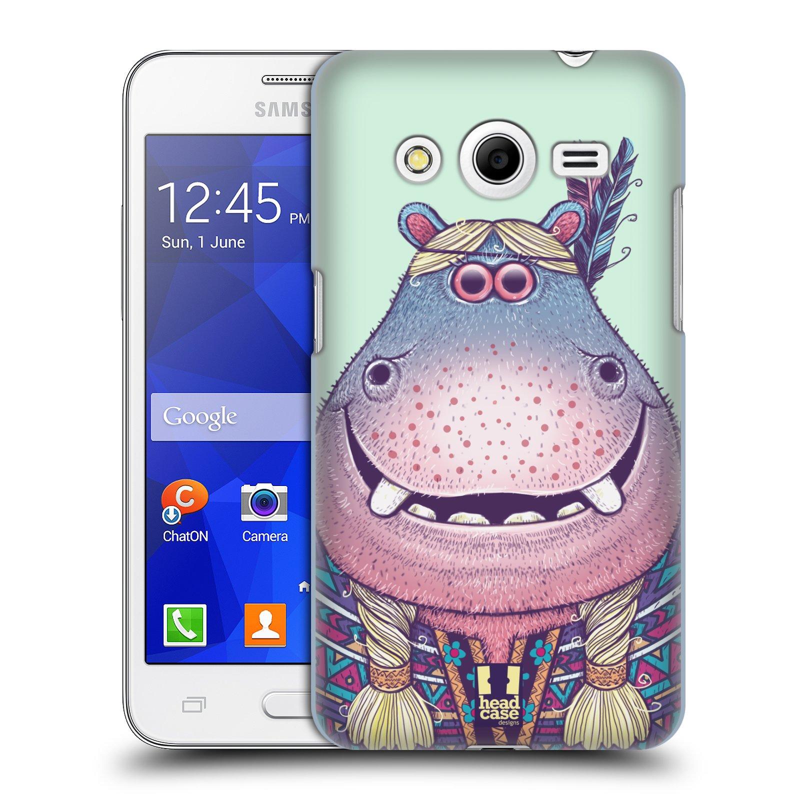 HEAD CASE plastový obal na mobil SAMSUNG GALAXY Core 2 (G355H) vzor Kreslená zvířátka hroch