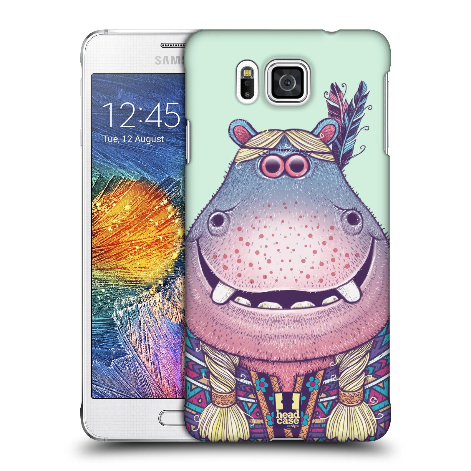 HEAD CASE plastový obal na mobil SAMSUNG Galaxy Alpha (G850) vzor Kreslená zvířátka hroch