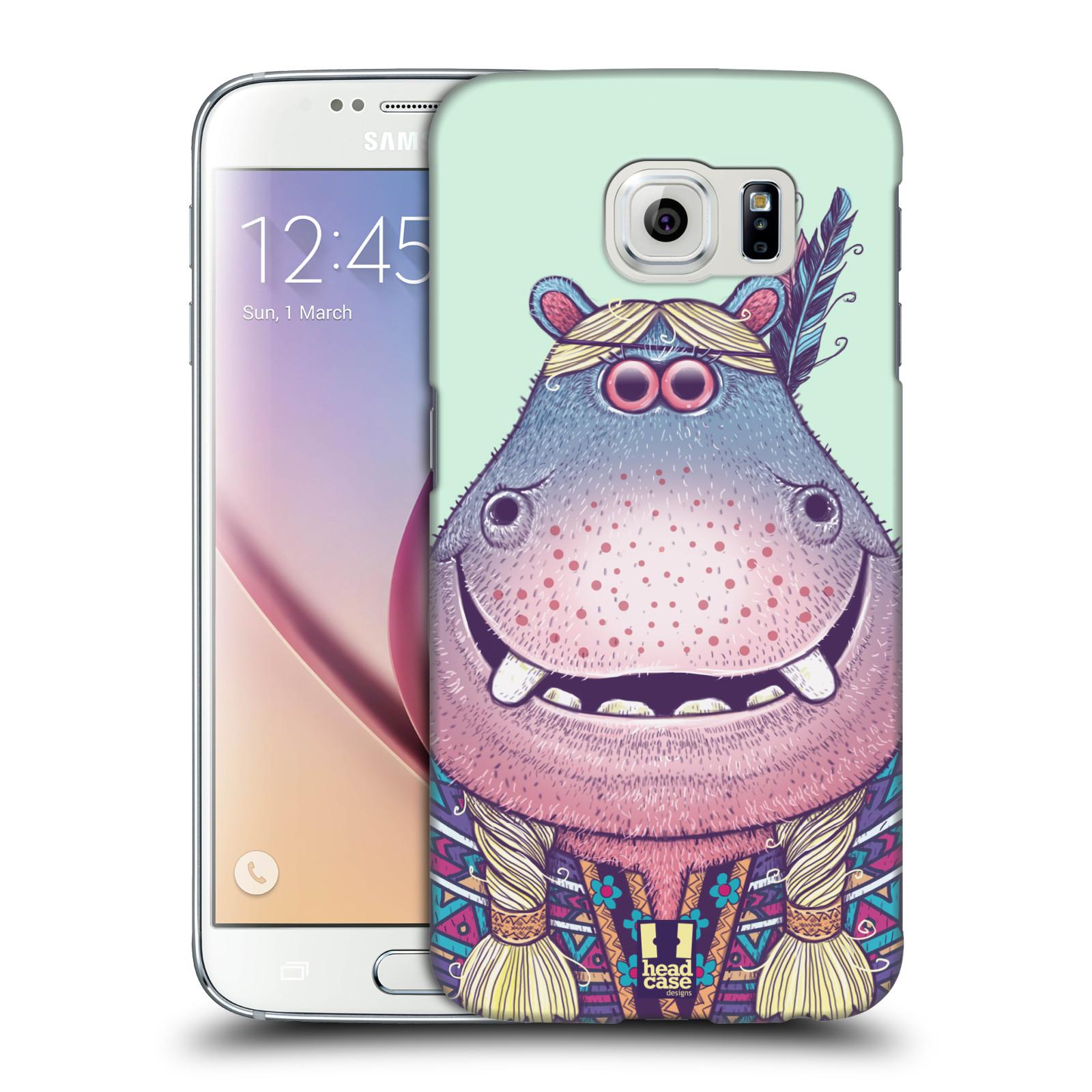 HEAD CASE plastový obal na mobil SAMSUNG Galaxy S6 (G9200, G920F) vzor Kreslená zvířátka hroch