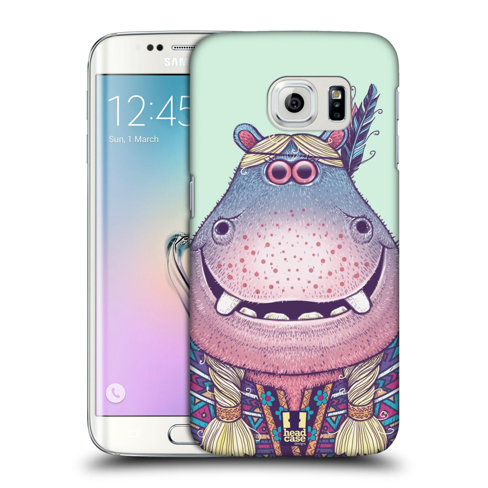 HEAD CASE plastový obal na mobil SAMSUNG Galaxy S6 EDGE (G9250, G925, G925F) vzor Kreslená zvířátka hroch