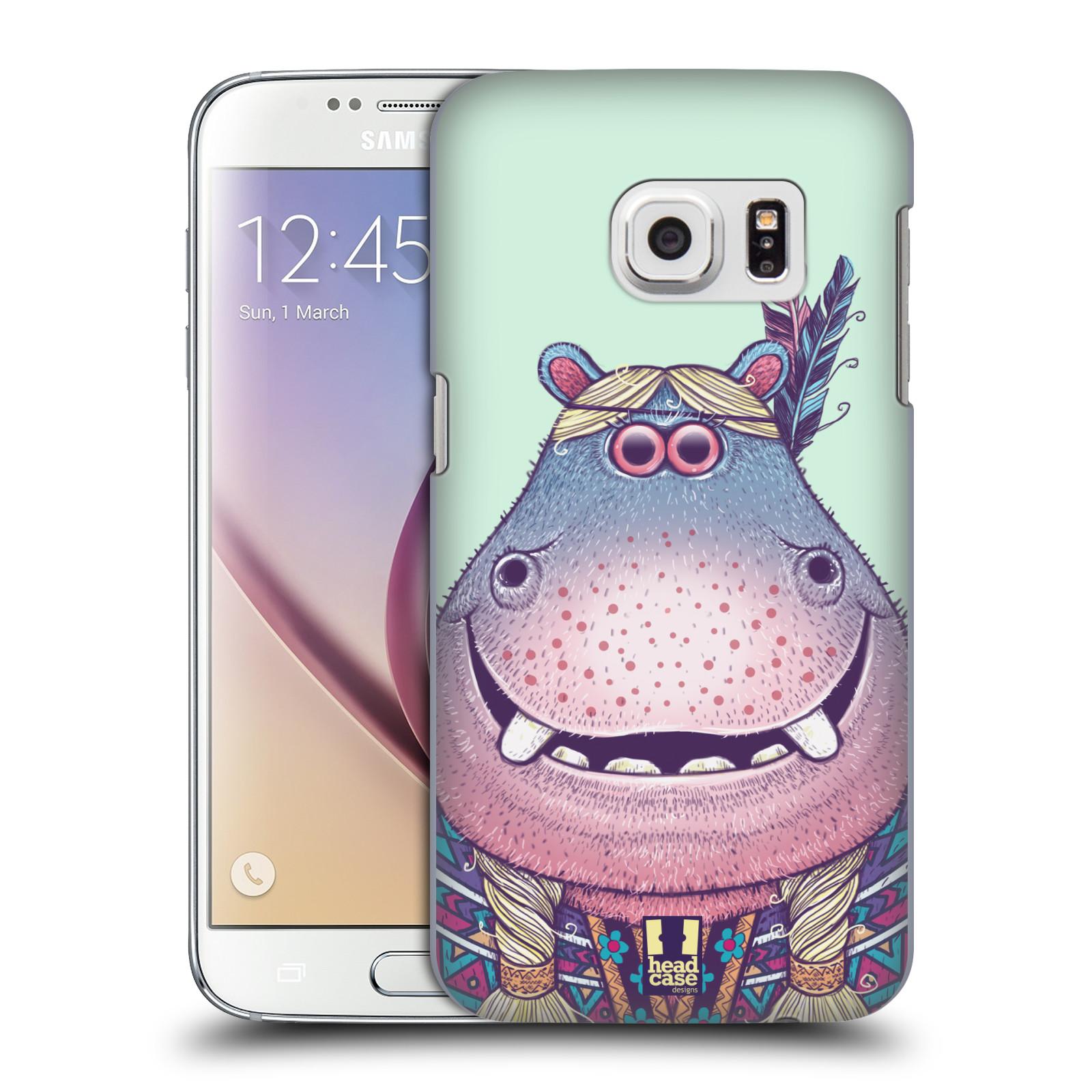 HEAD CASE plastový obal na mobil SAMSUNG GALAXY S7 vzor Kreslená zvířátka hroch