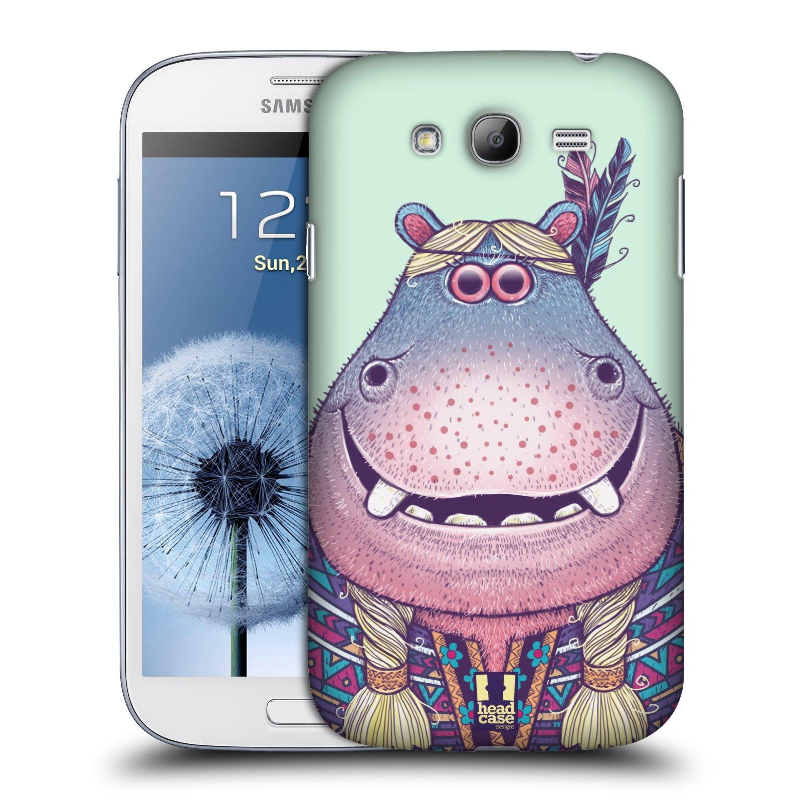 HEAD CASE plastový obal na mobil SAMSUNG GALAXY Grand i9080 vzor Kreslená zvířátka hroch
