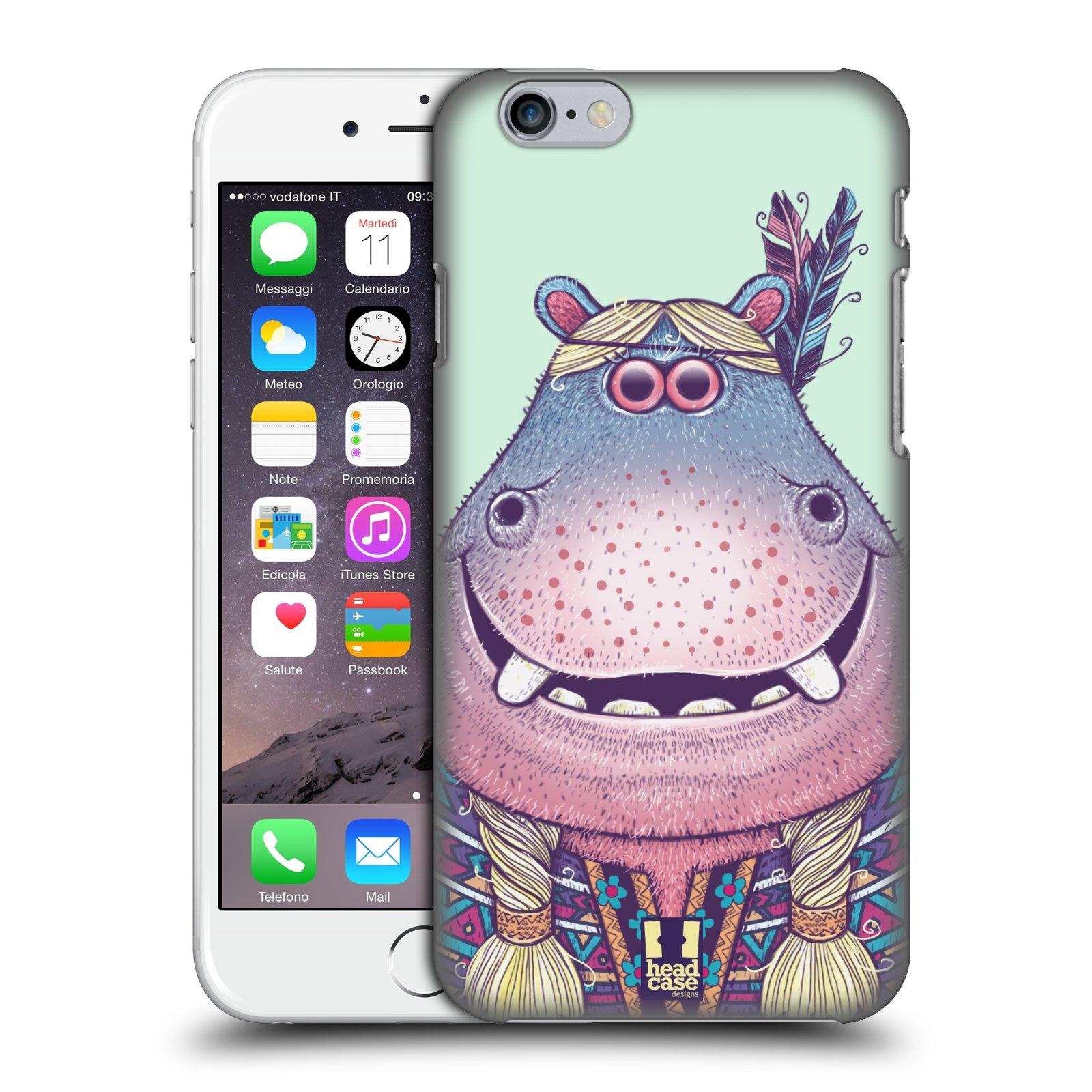 Plastové pouzdro pro mobil Apple Iphone 6/6S vzor Kreslená zvířátka hroch