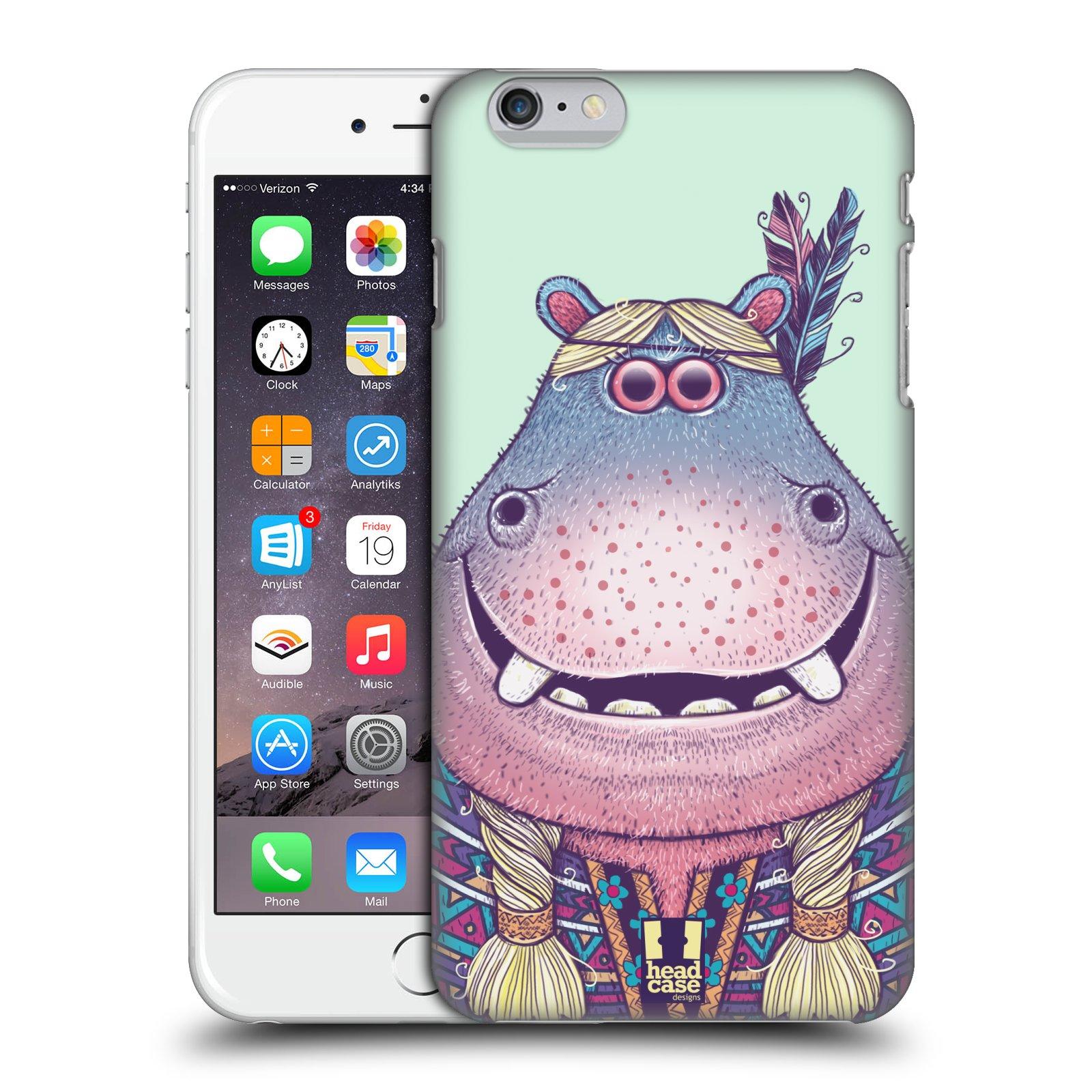 Plastové pouzdro pro mobil Apple Iphone 6 PLUS / 6S PLUS vzor Kreslená zvířátka hroch