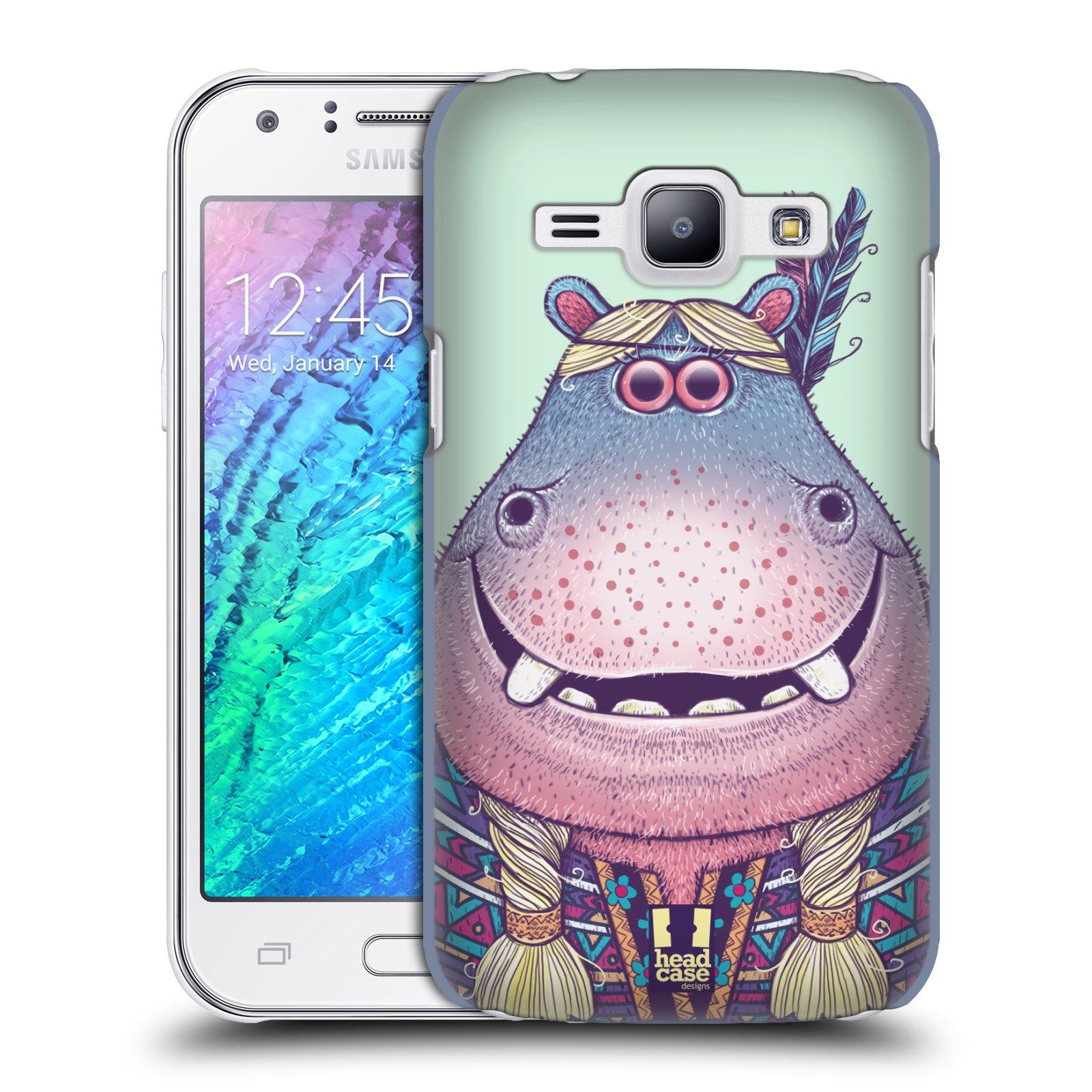 HEAD CASE plastový obal na mobil SAMSUNG Galaxy J1, J100 vzor Kreslená zvířátka hroch