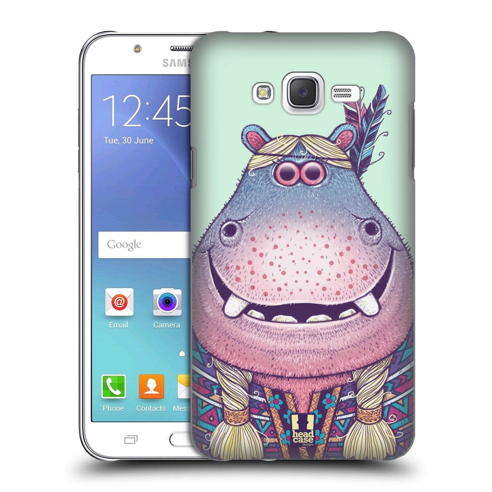 HEAD CASE plastový obal na mobil SAMSUNG Galaxy J7, J700 vzor Kreslená zvířátka hroch