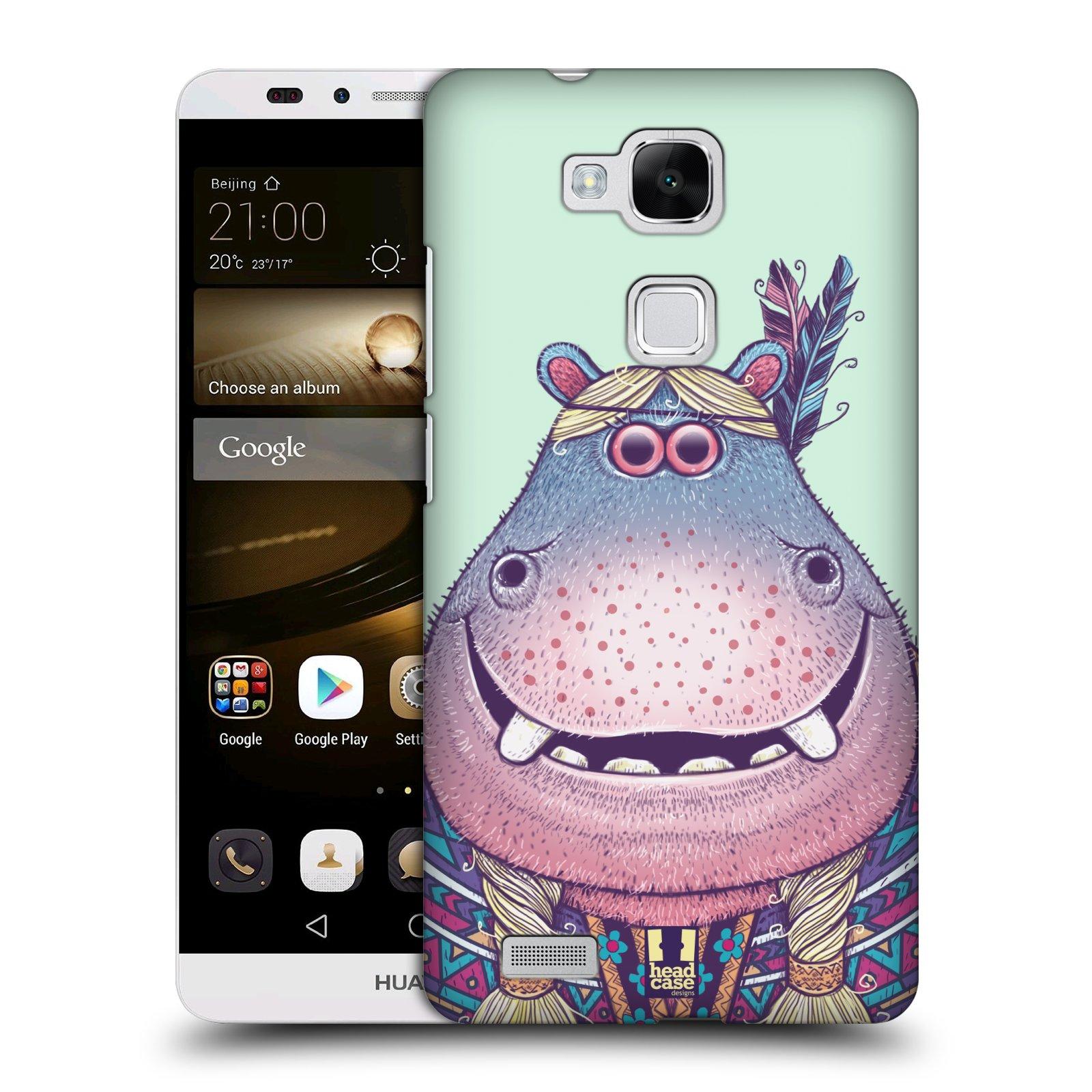 HEAD CASE plastový obal na mobil Huawei Mate 7 vzor Kreslená zvířátka hroch