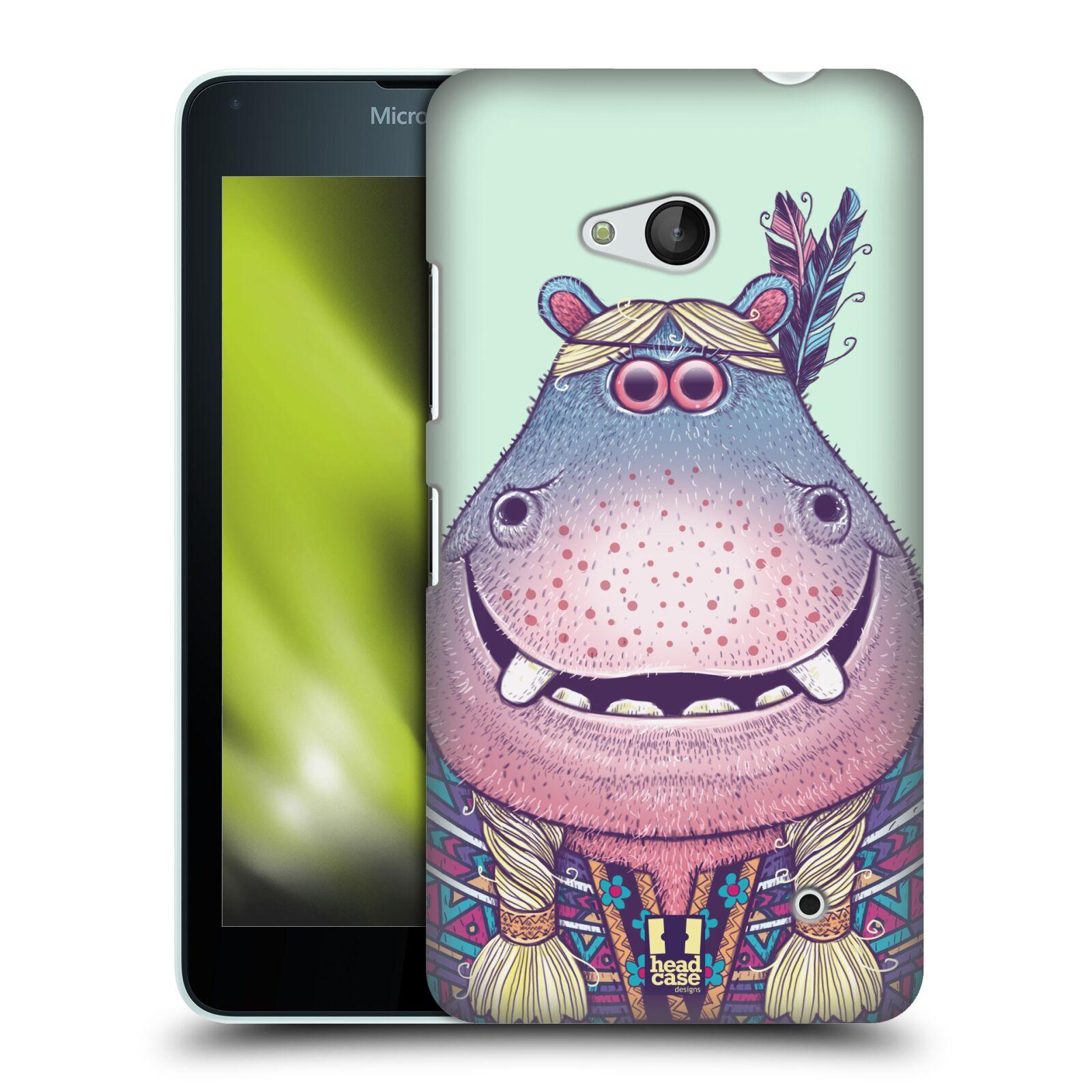 HEAD CASE plastový obal na mobil Nokia Lumia 640 vzor Kreslená zvířátka hroch