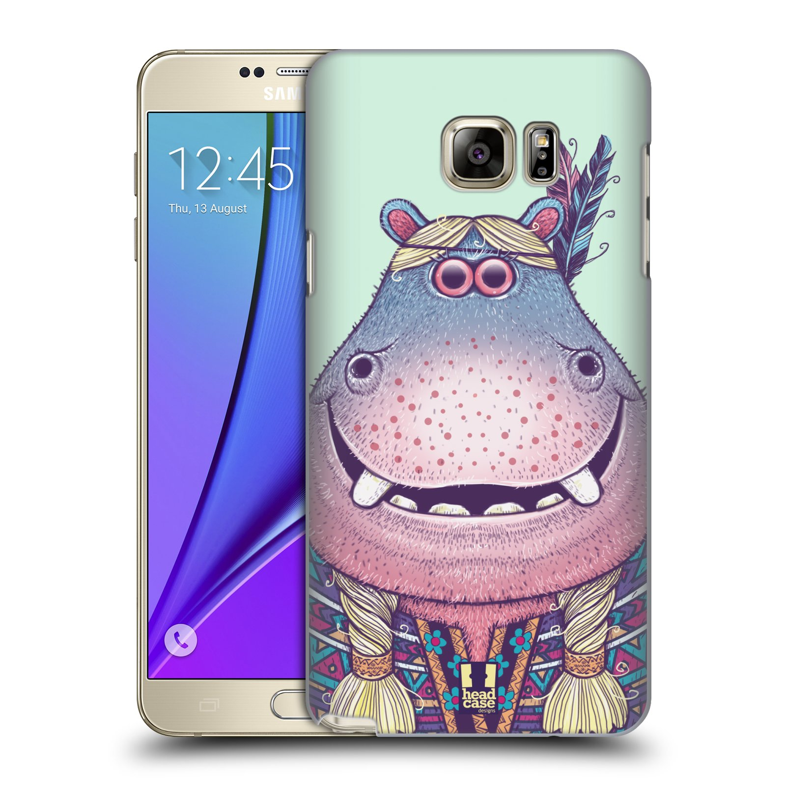 HEAD CASE plastový obal na mobil SAMSUNG Galaxy Note 5 (N920) vzor Kreslená zvířátka hroch