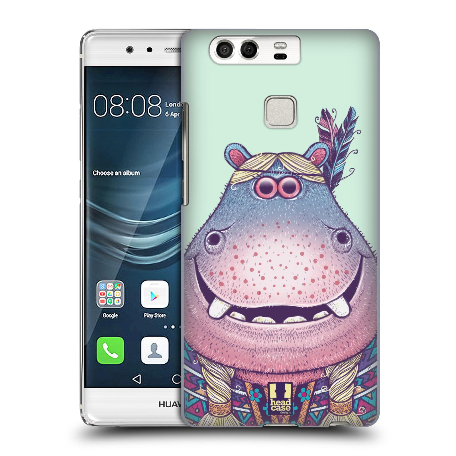 HEAD CASE plastový obal na mobil Huawei P9 / P9 DUAL SIM vzor Kreslená zvířátka hroch