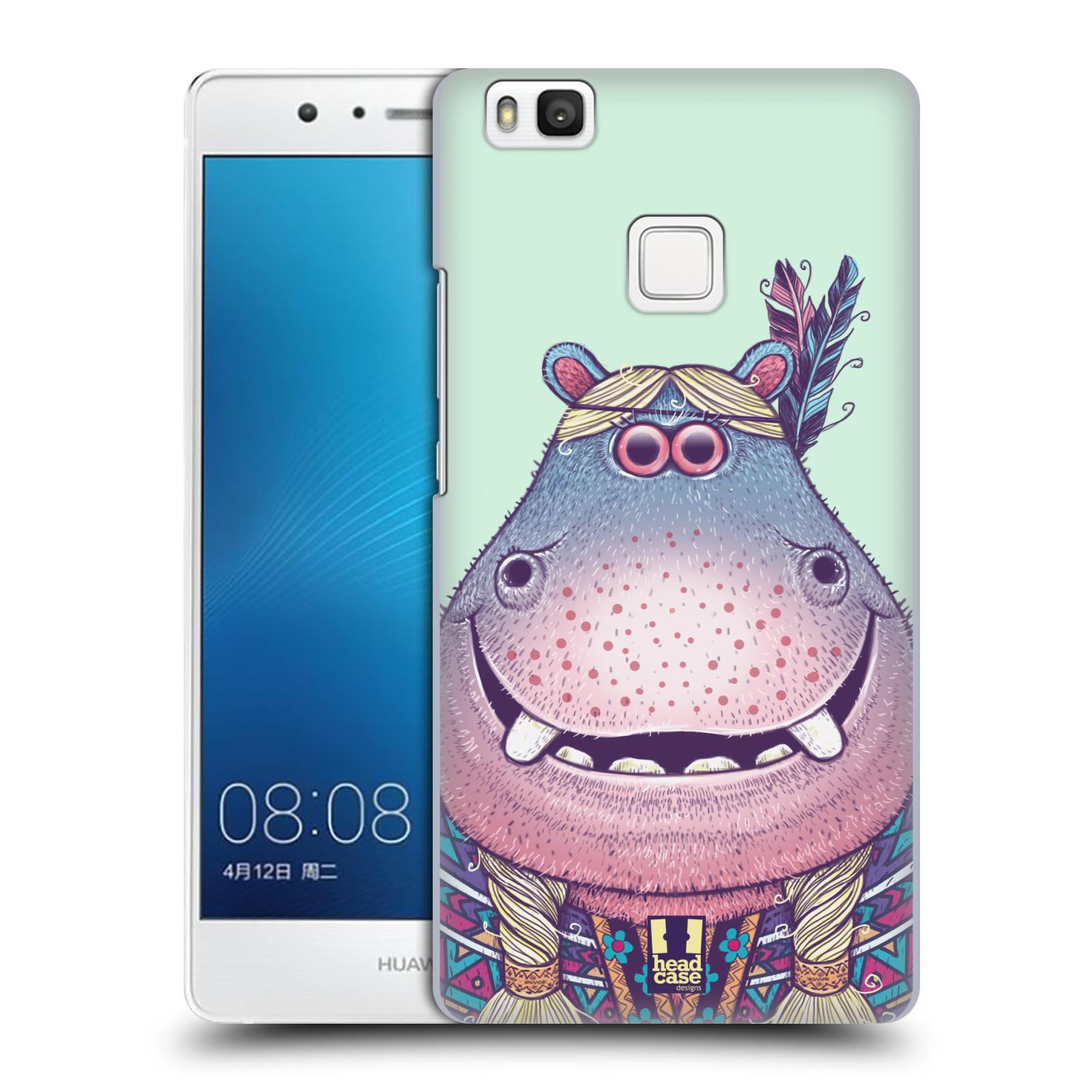 HEAD CASE plastový obal na mobil Huawei P9 LITE / P9 LITE DUAL SIM vzor Kreslená zvířátka hroch