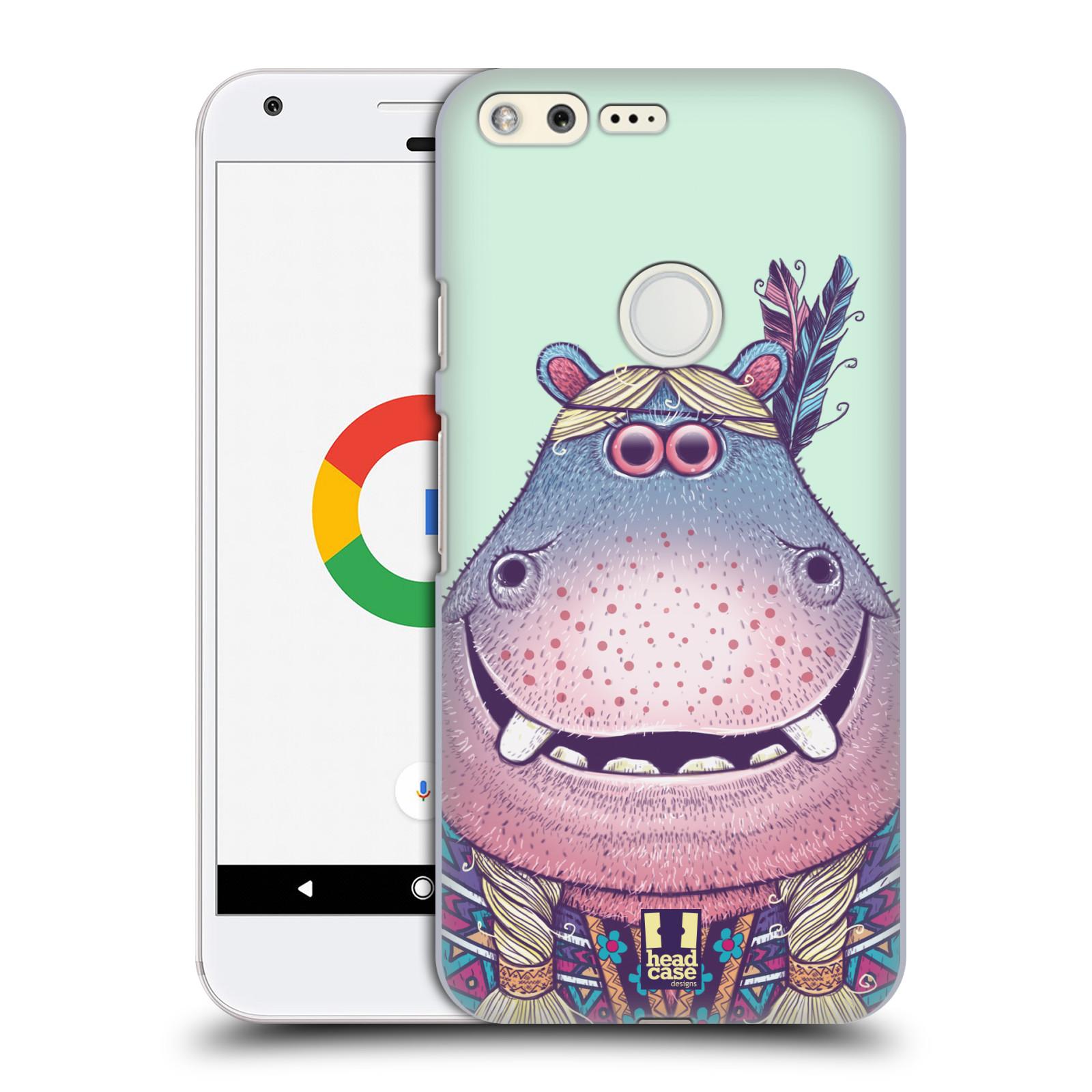 HEAD CASE plastový obal na mobil GOOGLE Pixel vzor Kreslená zvířátka hroch