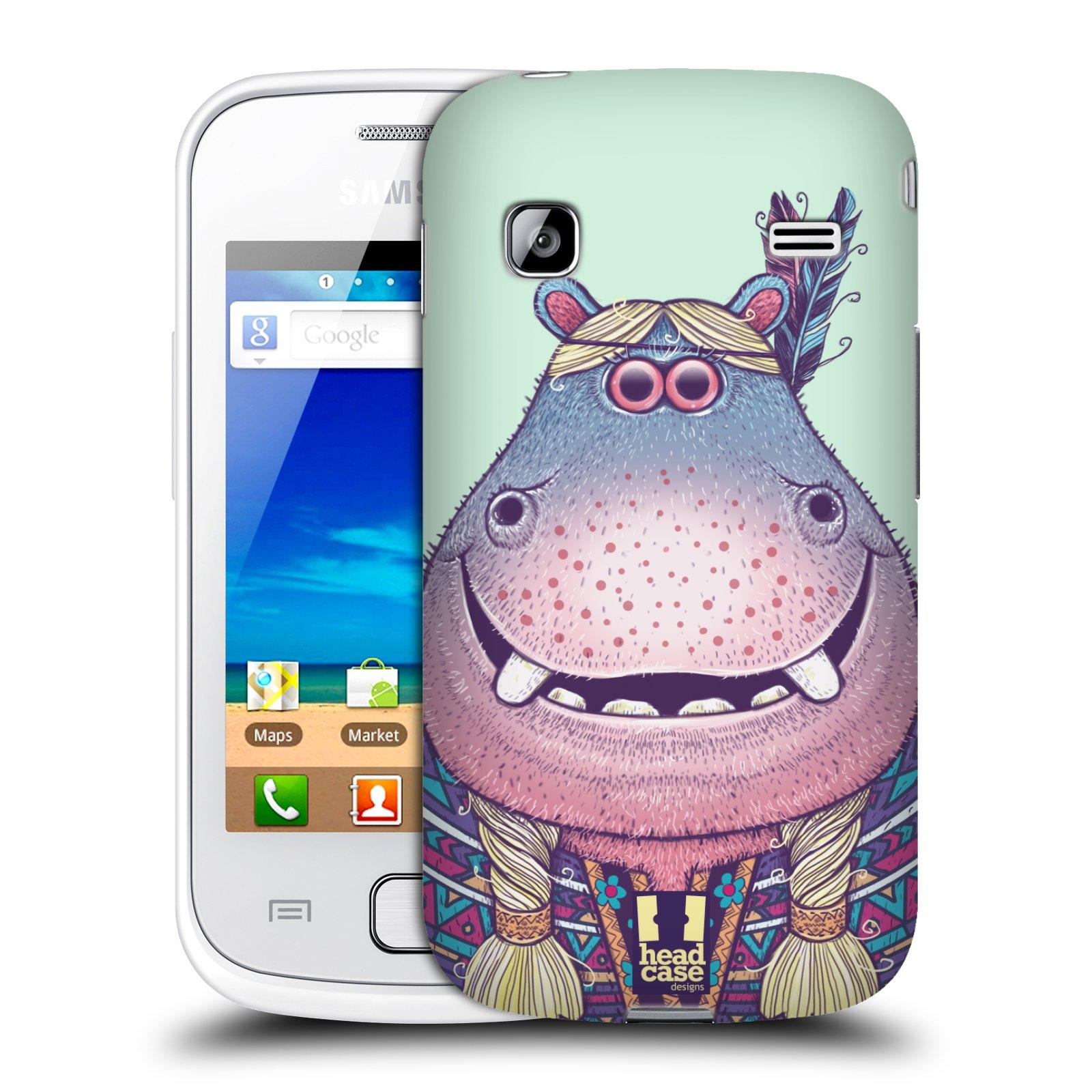 HEAD CASE plastový obal na mobil SAMSUNG GALAXY GIO (S5660) vzor Kreslená zvířátka hroch