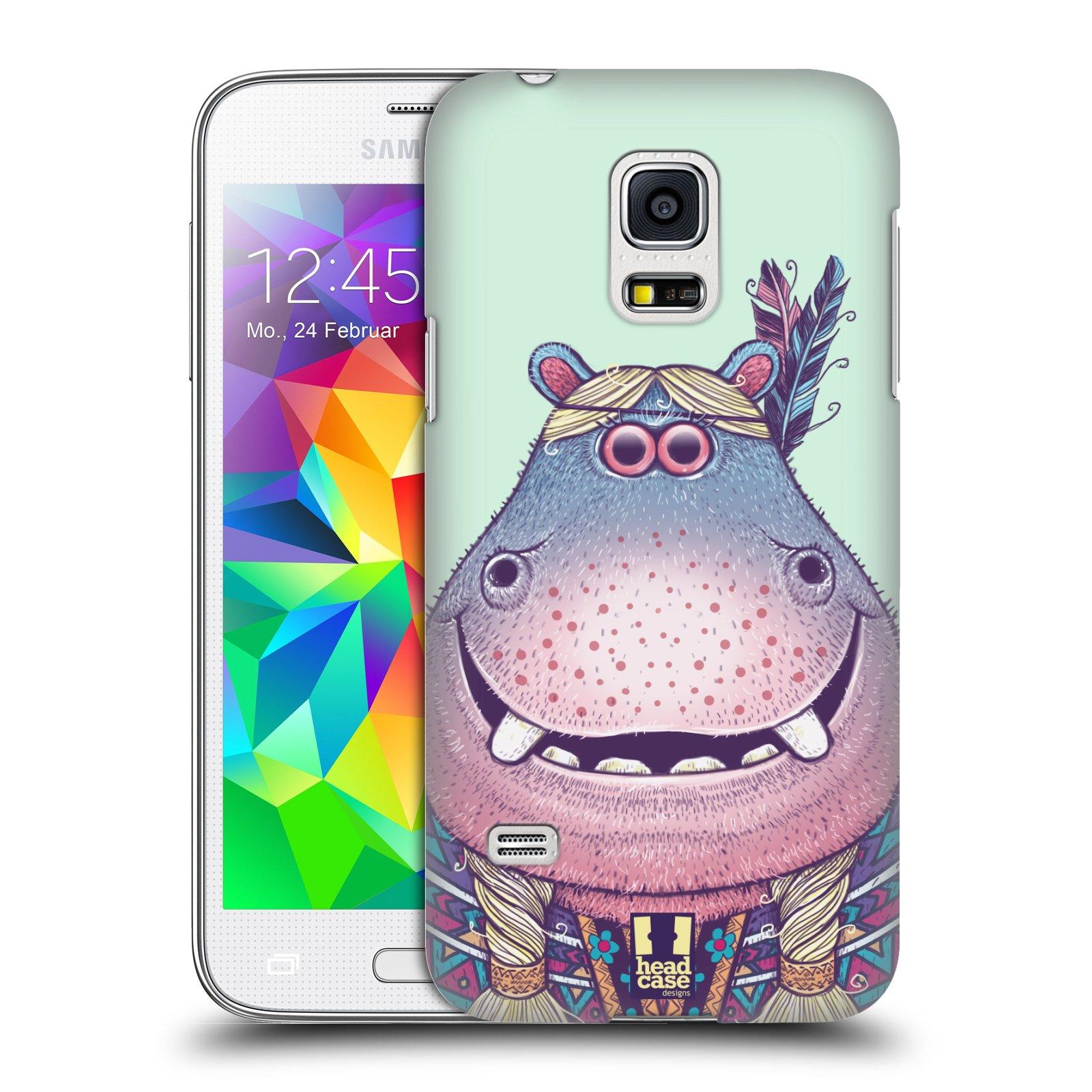 HEAD CASE plastový obal na mobil SAMSUNG Galaxy S5 MINI / S5 MINI DUOS vzor Kreslená zvířátka hroch