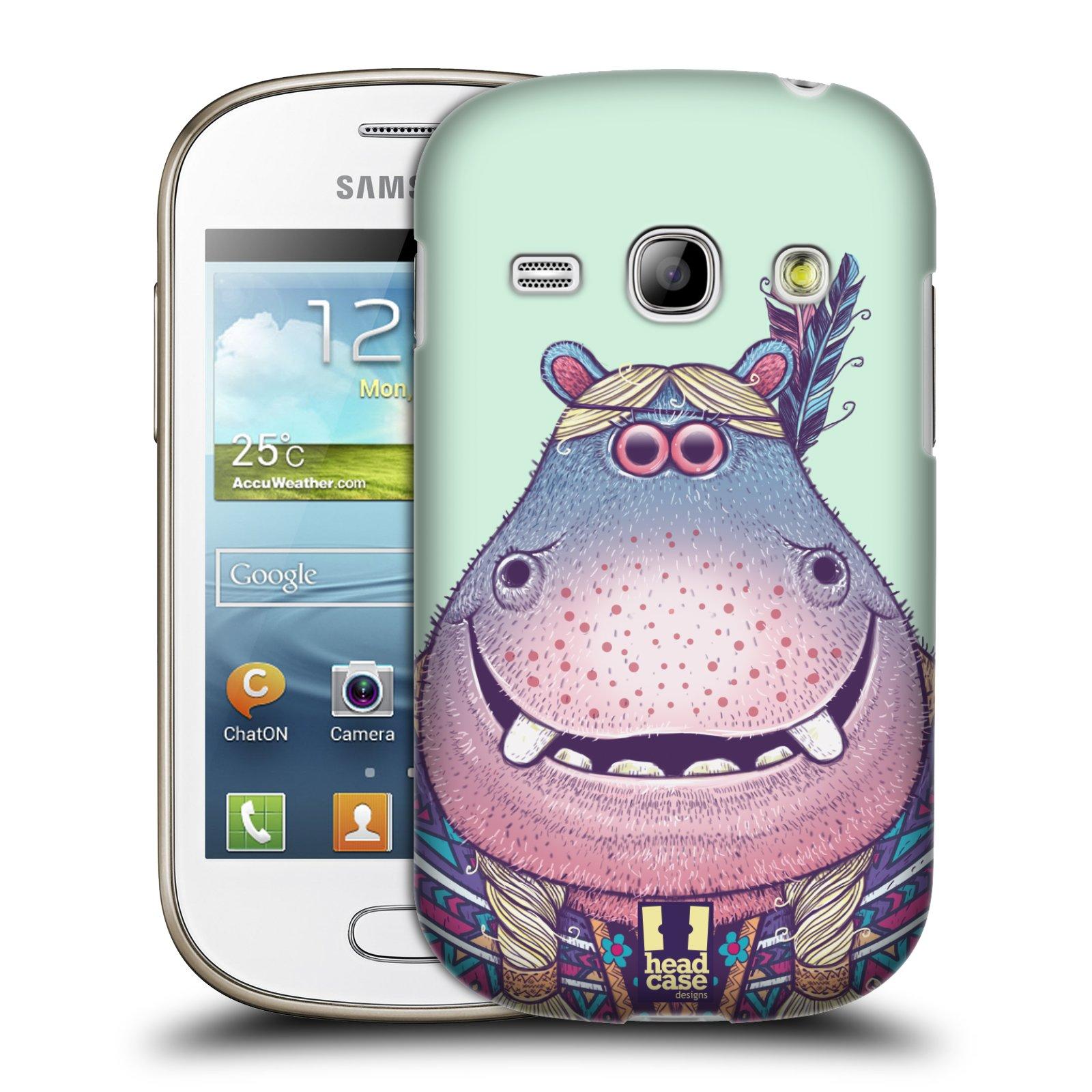 HEAD CASE plastový obal na mobil SAMSUNG GALAXY FAME (S6810) vzor Kreslená zvířátka hroch