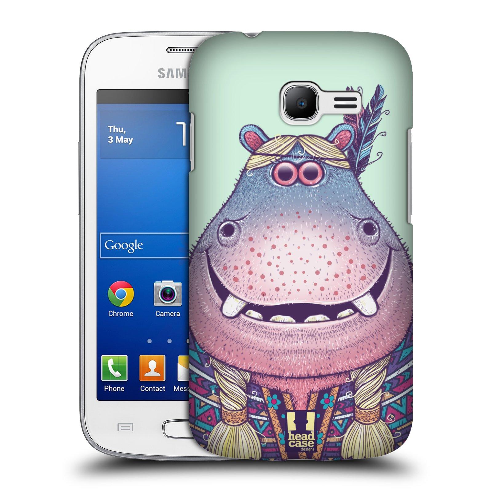 HEAD CASE plastový obal na mobil SAMSUNG GALAXY Star Pro S7260/S7262 DUOS vzor Kreslená zvířátka hroch