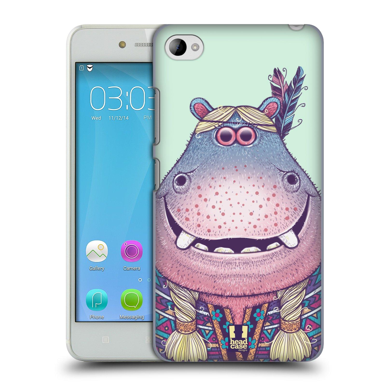 HEAD CASE pevný plastový obal na mobil LENOVO S90 vzor Kreslená zvířátka hroch