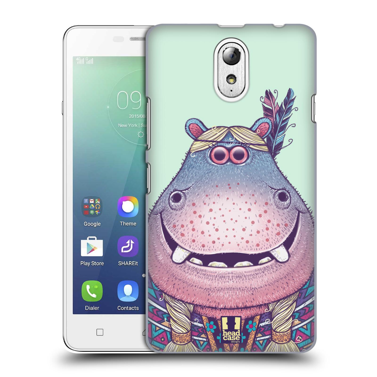 HEAD CASE pevný plastový obal na mobil LENOVO VIBE P1m / LENOVO VIBE p1m DUAL SIM vzor Kreslená zvířátka hroch