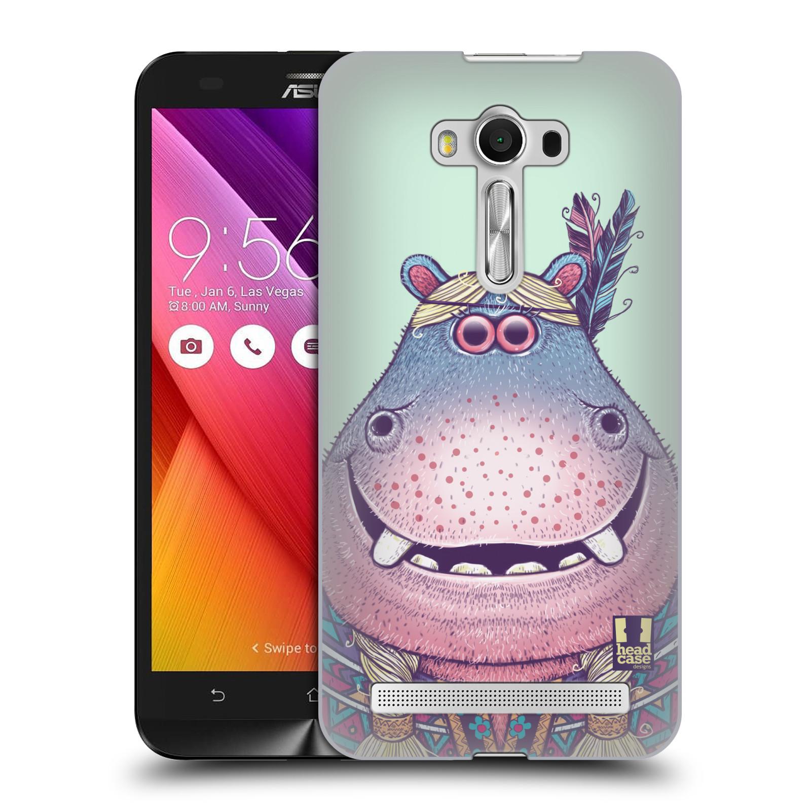 HEAD CASE plastový obal na mobil Asus Zenfone 2 LASER (5,5 displej ZE550KL) vzor Kreslená zvířátka hroch