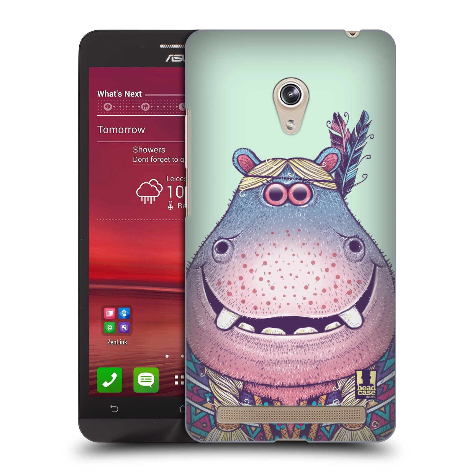 HEAD CASE plastový obal na mobil Asus Zenfone 6 vzor Kreslená zvířátka hroch